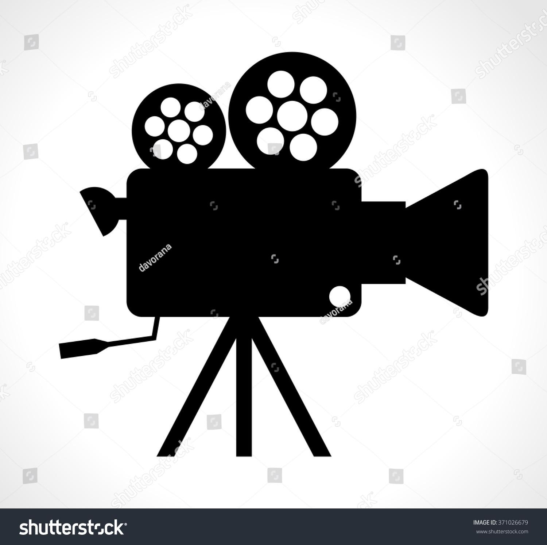 old technology device cinema video camera stock vector