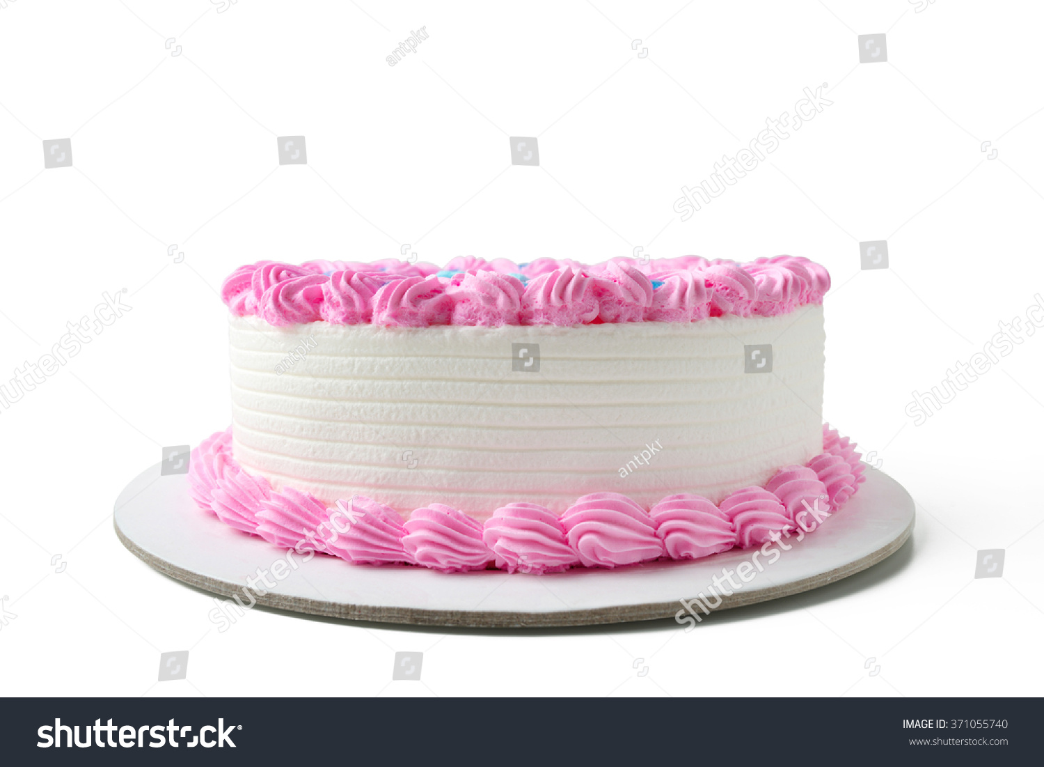 birthday cake with clipping path