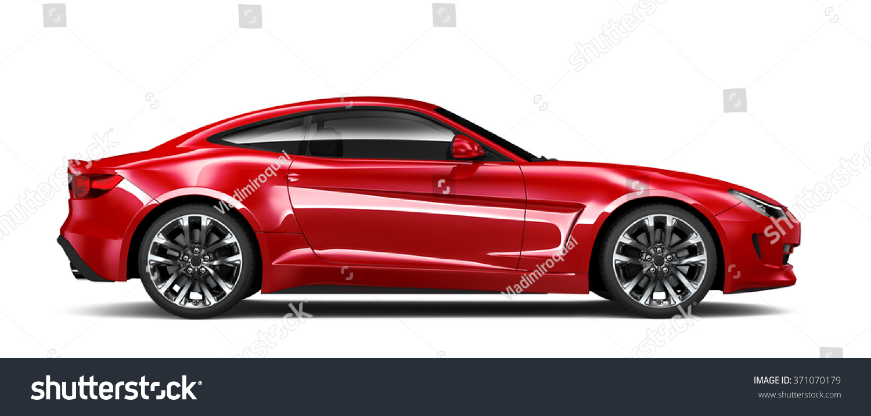 generic red car side view stock illustration 371070179. Black Bedroom Furniture Sets. Home Design Ideas
