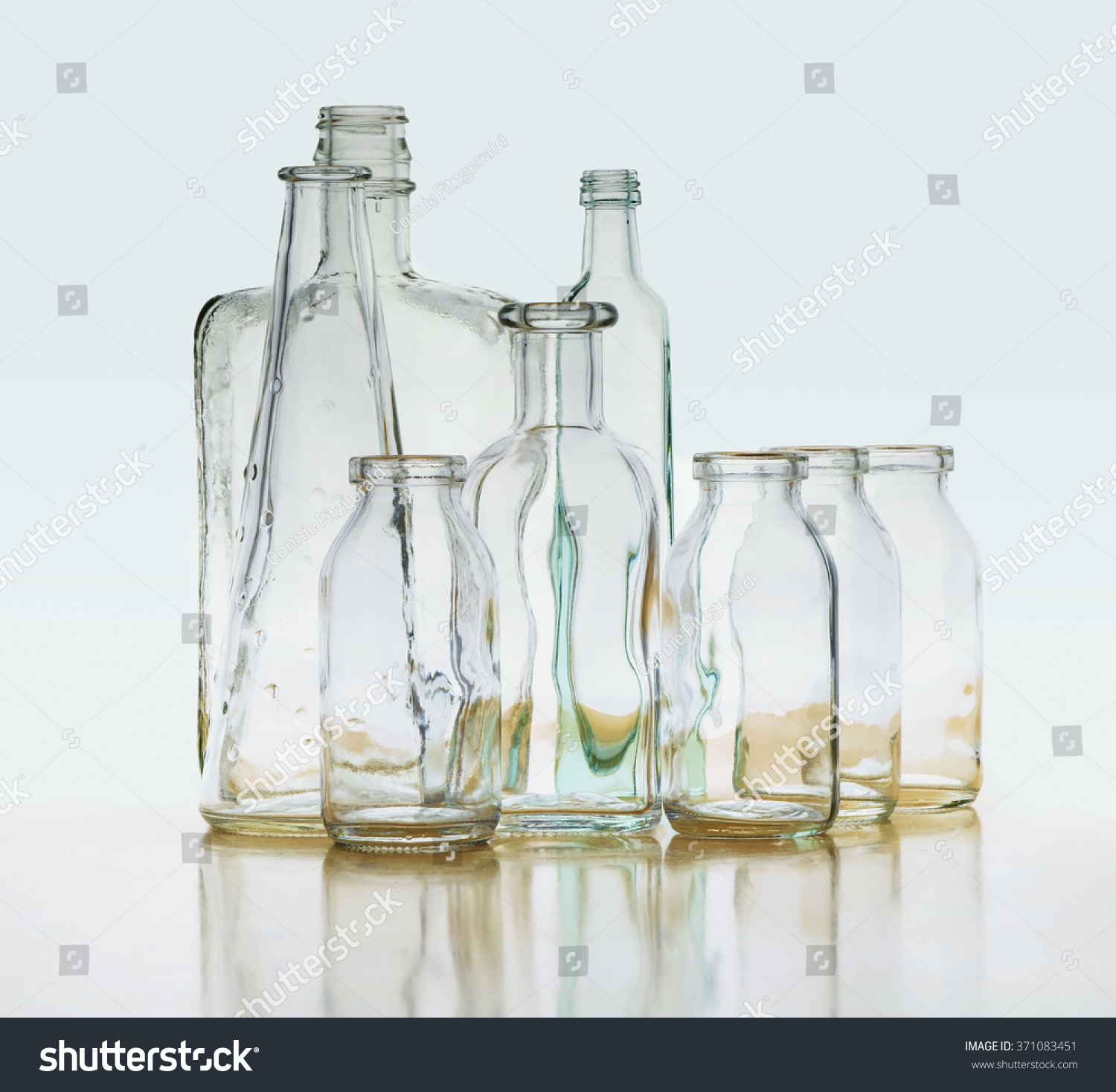 See Through Glass See Through Groups Clear Glass Bottles Stock Photo 371083451