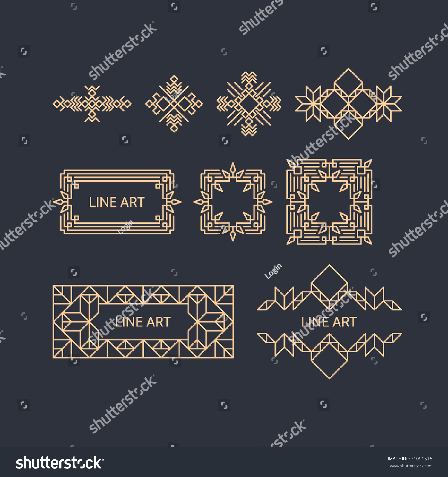 Retro Frame Place Text Vintage Decoration Stock Vector (Royalty Free on