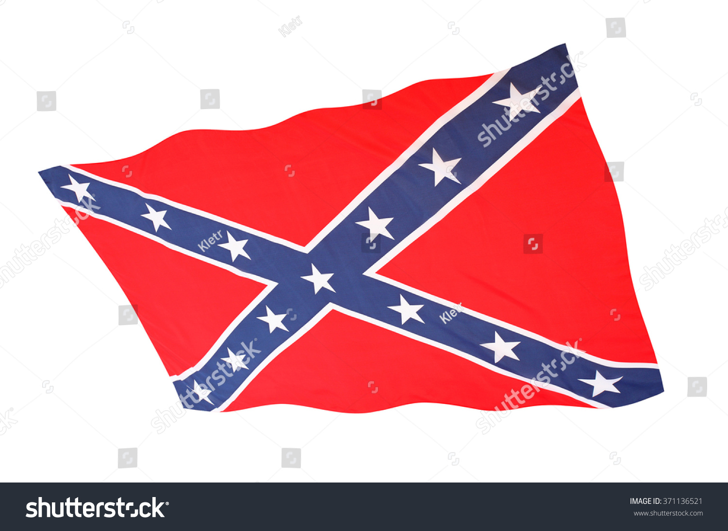Confederate battle flag st andrews cross stock illustration confederate battle flag with st andrews cross waving on white background symbol of todays rebels biocorpaavc