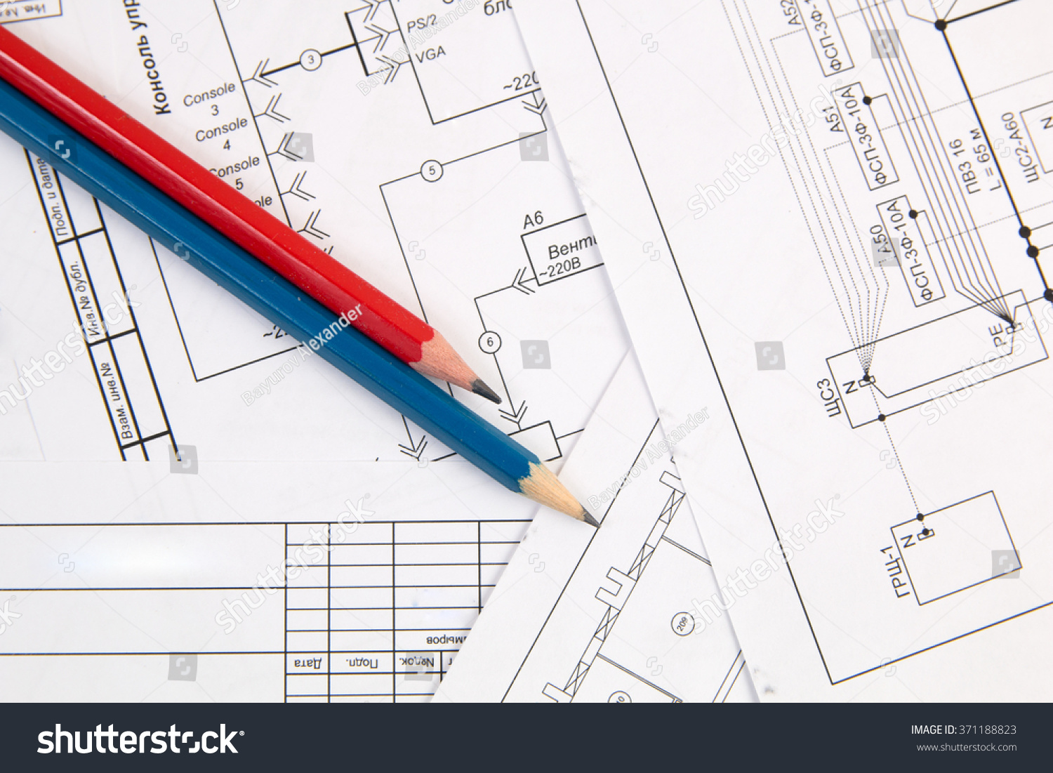 Electrical Engineering Drawings Printing And Pencils Ez Canvas Plan Id 371188823