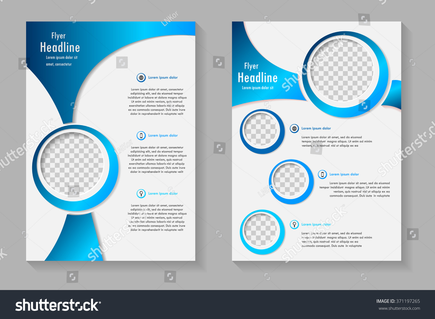 Vector Flyer Template Design Front Page Stock Vector Royalty Free