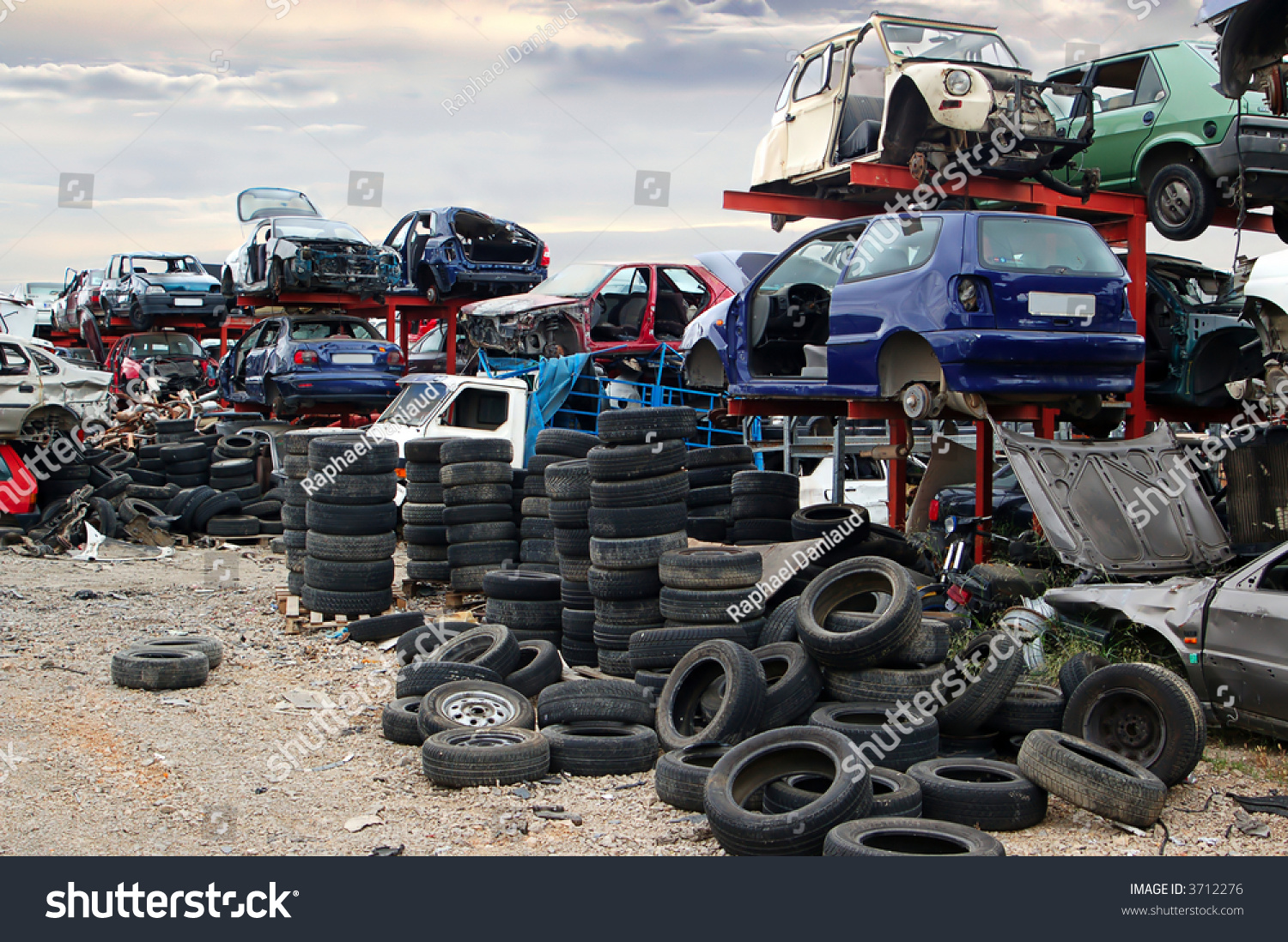 Old Vehicles Scrap Yard Stock Photo (Safe to Use) 3712276 - Shutterstock