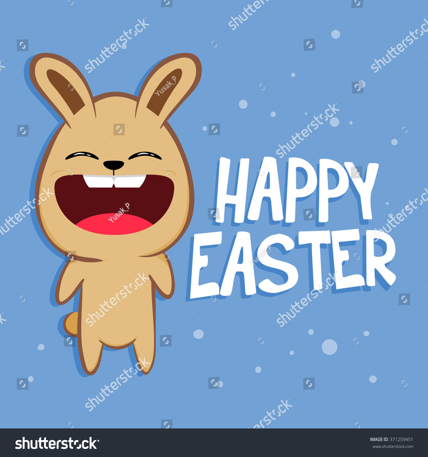 Funny rabbit shouting happy easter greetings stock vector 371259451 funny rabbit shouting happy easter greetings vector illustration kristyandbryce Choice Image
