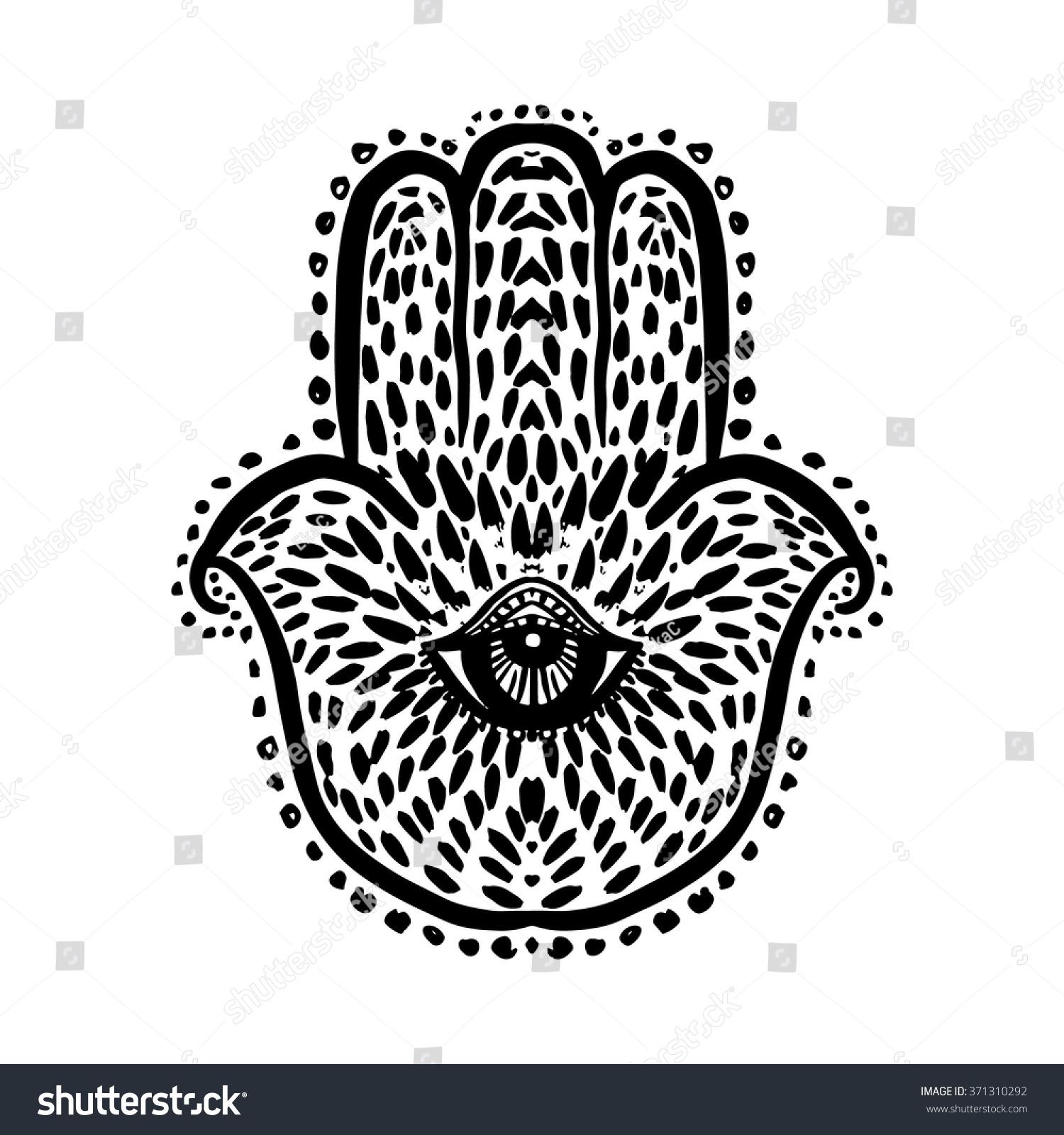Hand Miriam Hamsa Hand Divine Symbol Stock Vector Royalty Free