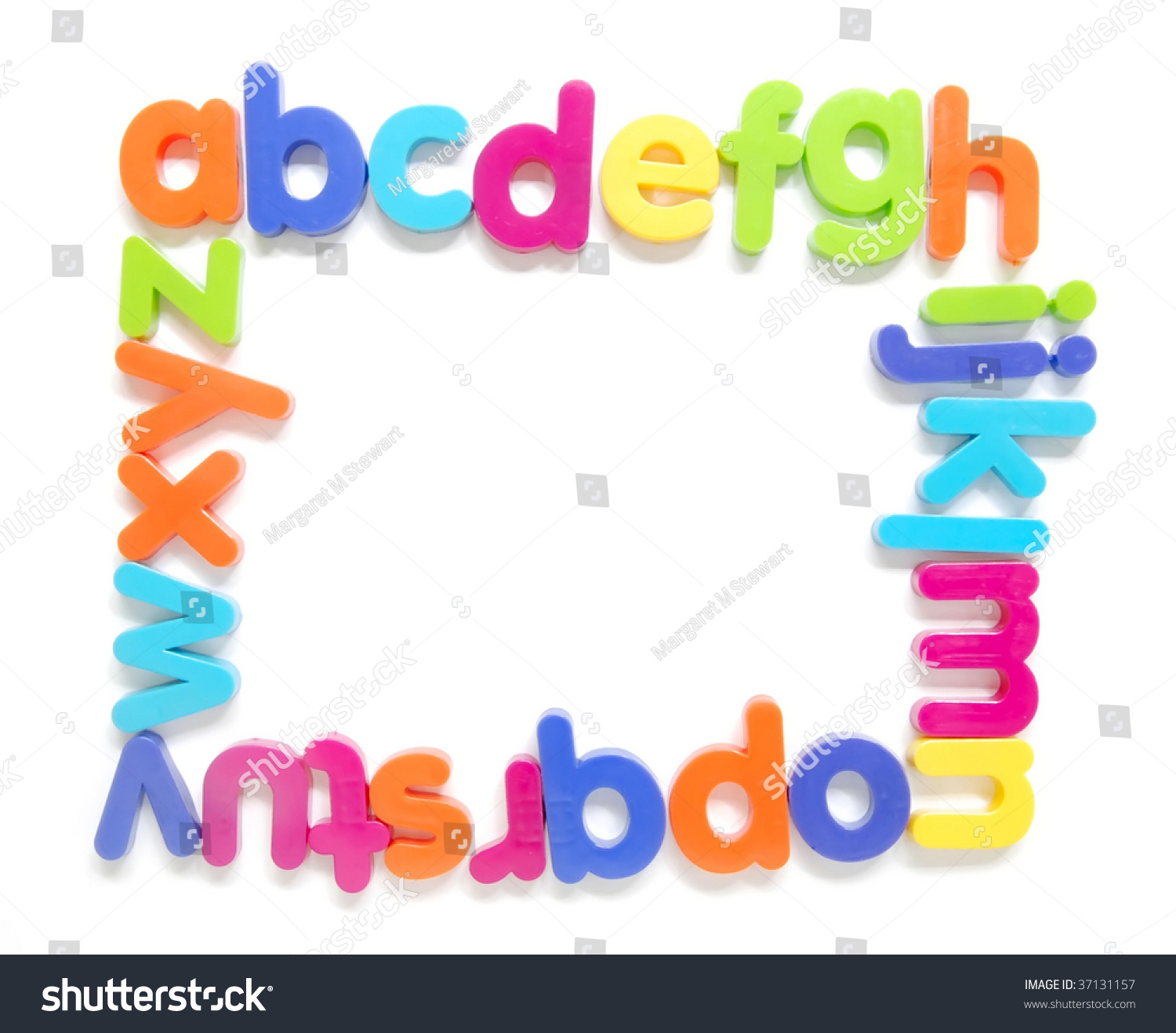 Magnetic Alphabet Letters Forming Frame Stock Photo (Royalty Free ...
