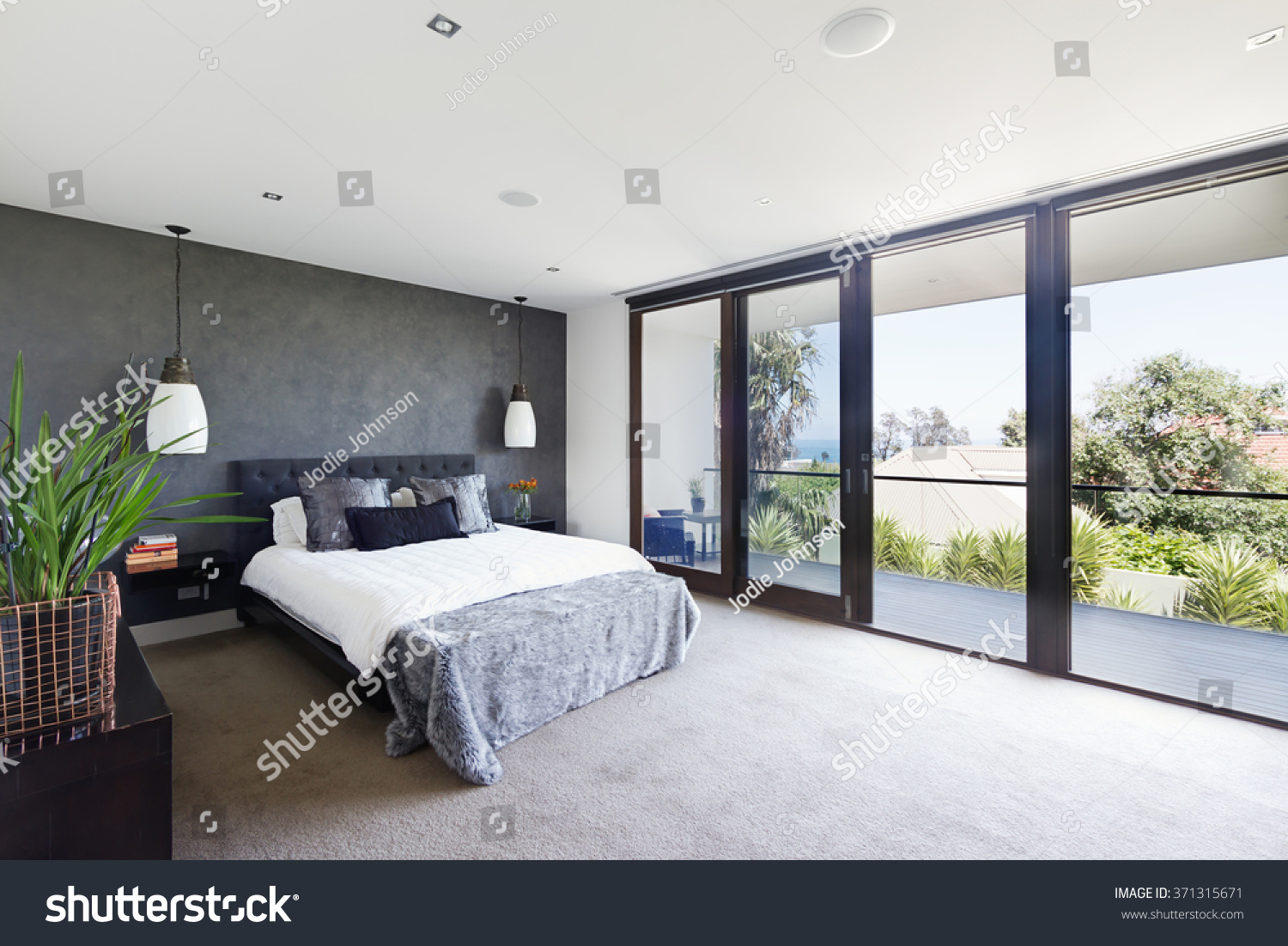 Spacious interior designer master bedroom luxury stock for Interior design bedroom australia