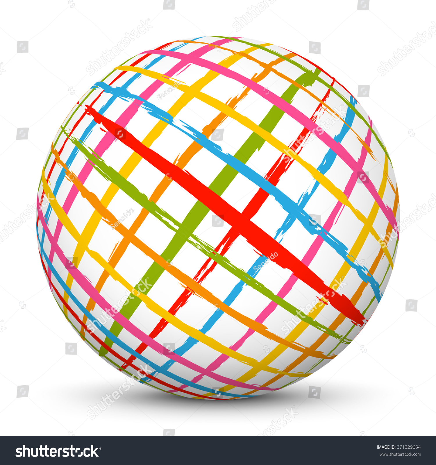 white vector 3d sphere abstract design stock vector 371329654