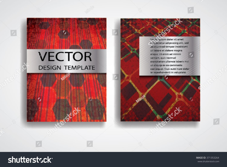 Grunge Vector Brochure Templates Magazine Layout Stock 371353264