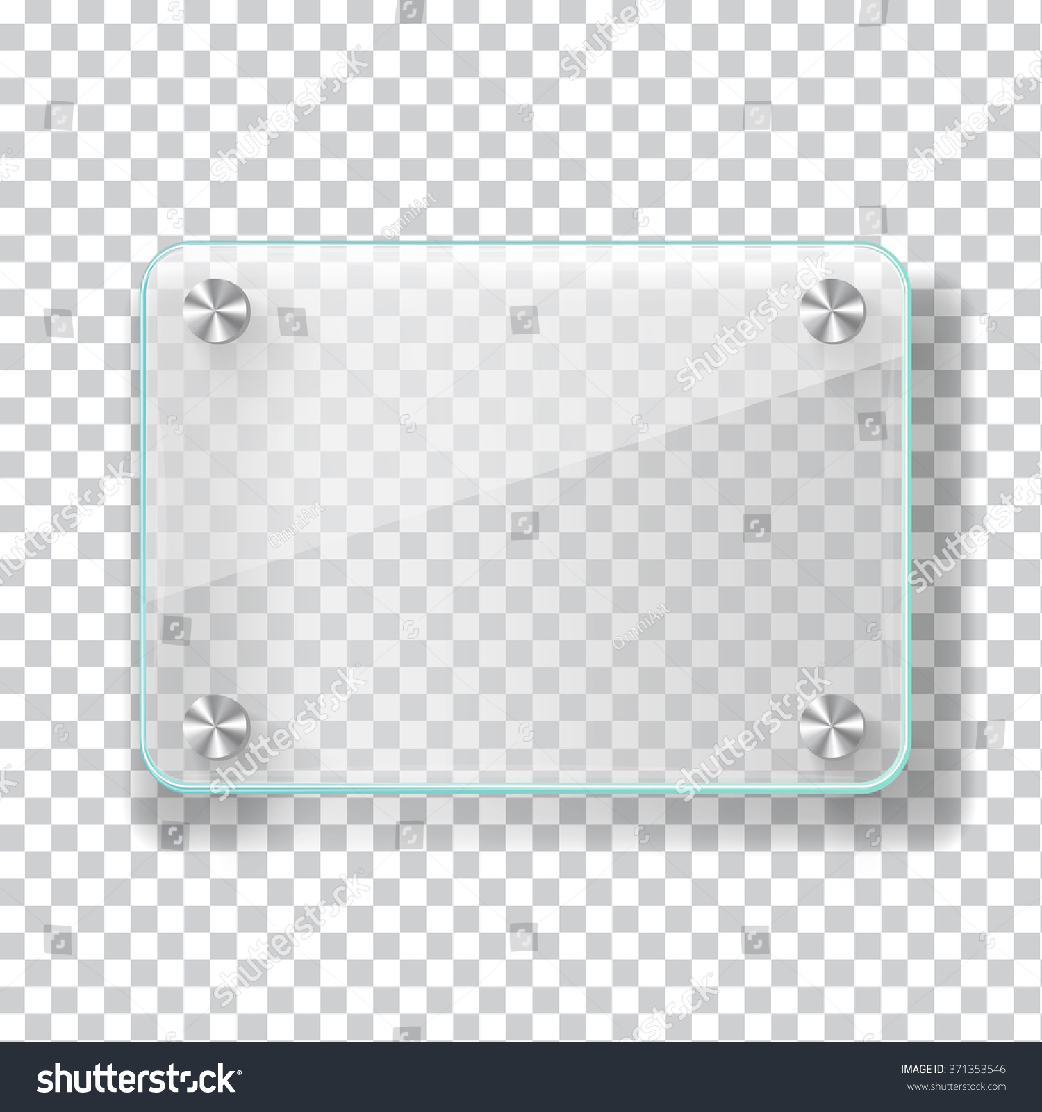 realistic transparent glass frame on light grey background vector eps10 illustration