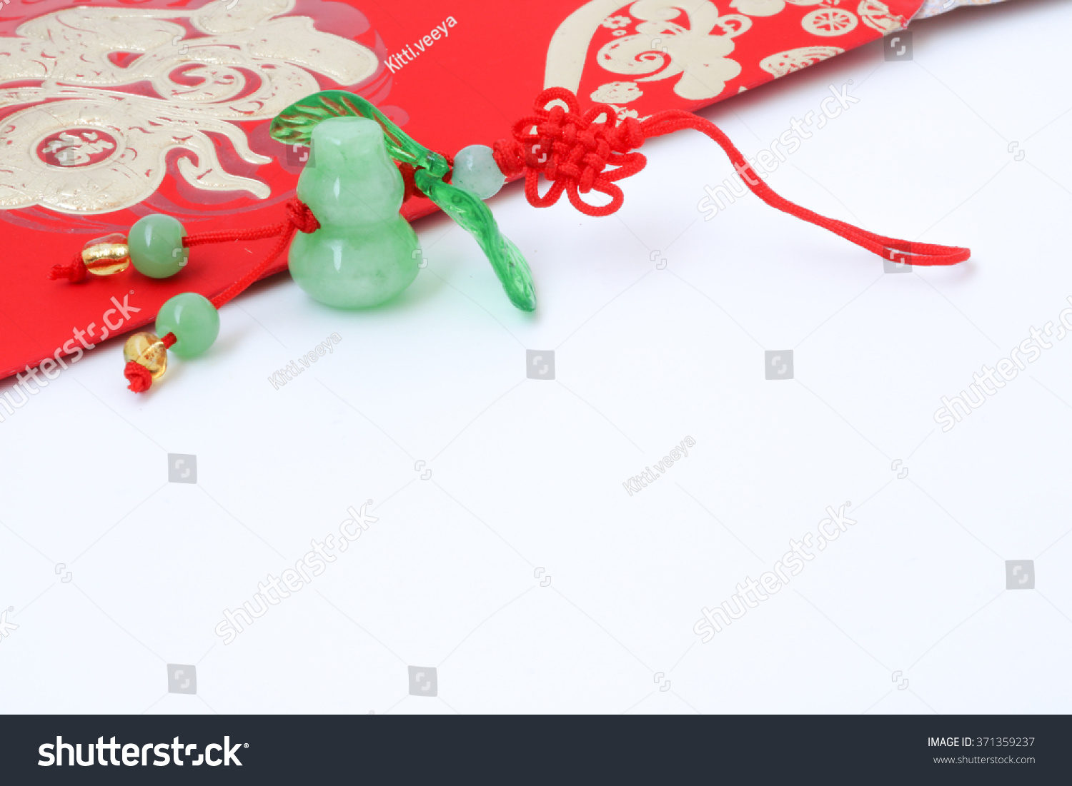 Red pocket on chinese new year stock photo 371359237 shutterstock red pocket on chinese new year chinese text is mean rich gold and long live biocorpaavc Image collections