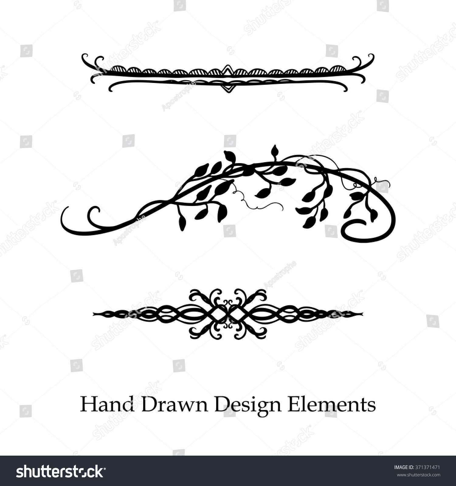 Vector Design Element Beautiful Fancy Curls Stock Vector Royalty