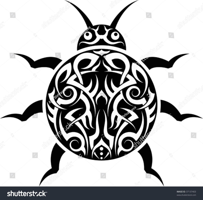 Tribal Tattoo Ladybug Stock Vector (Royalty Free) 37137403 ...