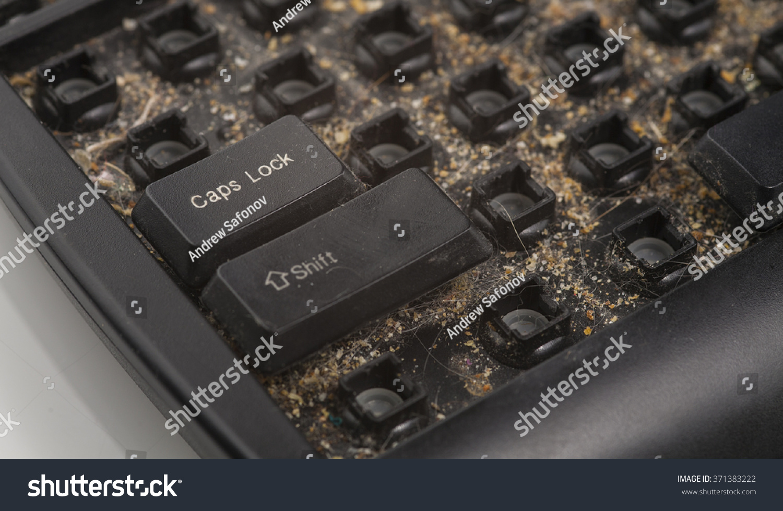 Dirty Keyboard Stock Photo Royalty Free 371383222 Shutterstock