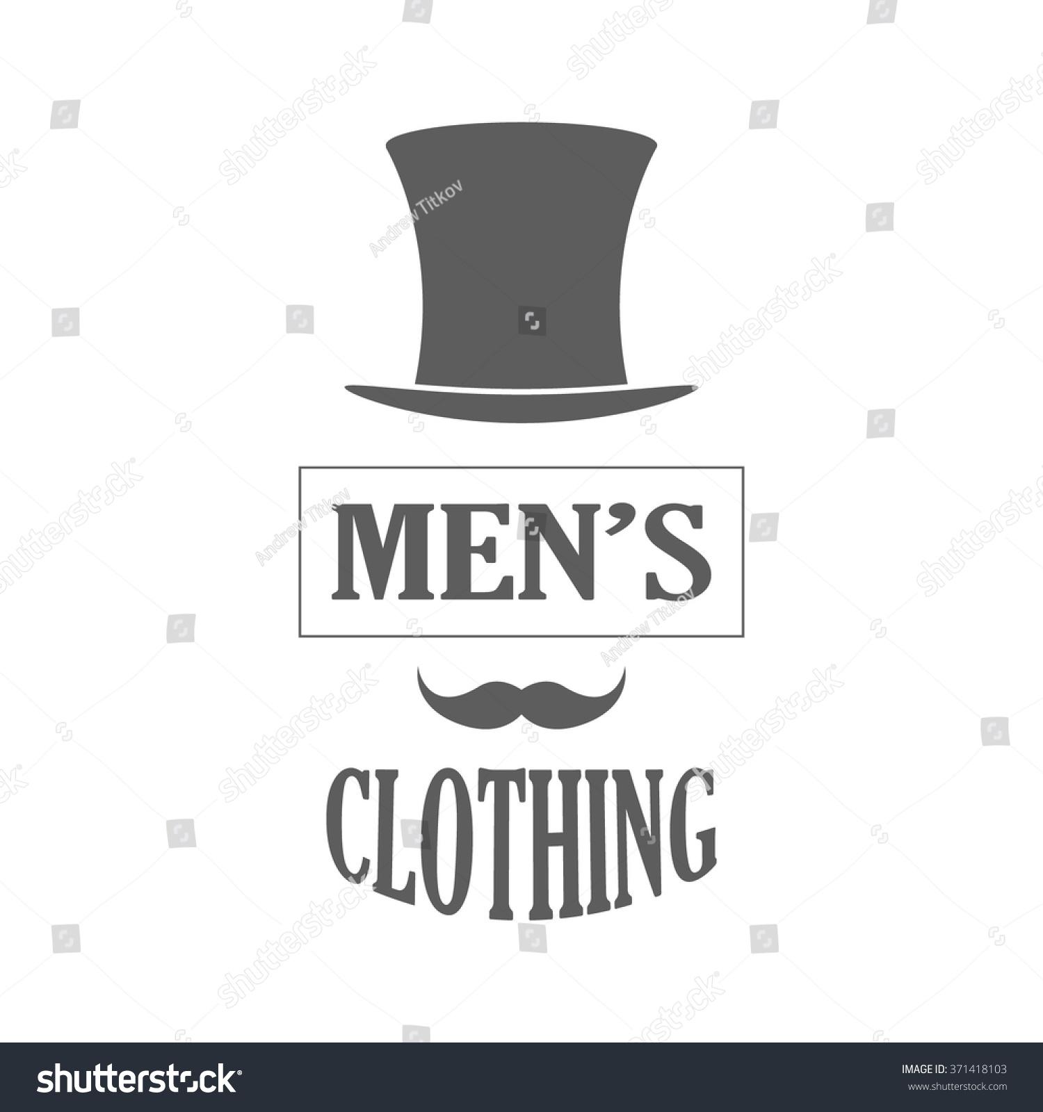 Clothing Store Logo Retro Style Mens Stock-Vektorgrafik 371418103 ...
