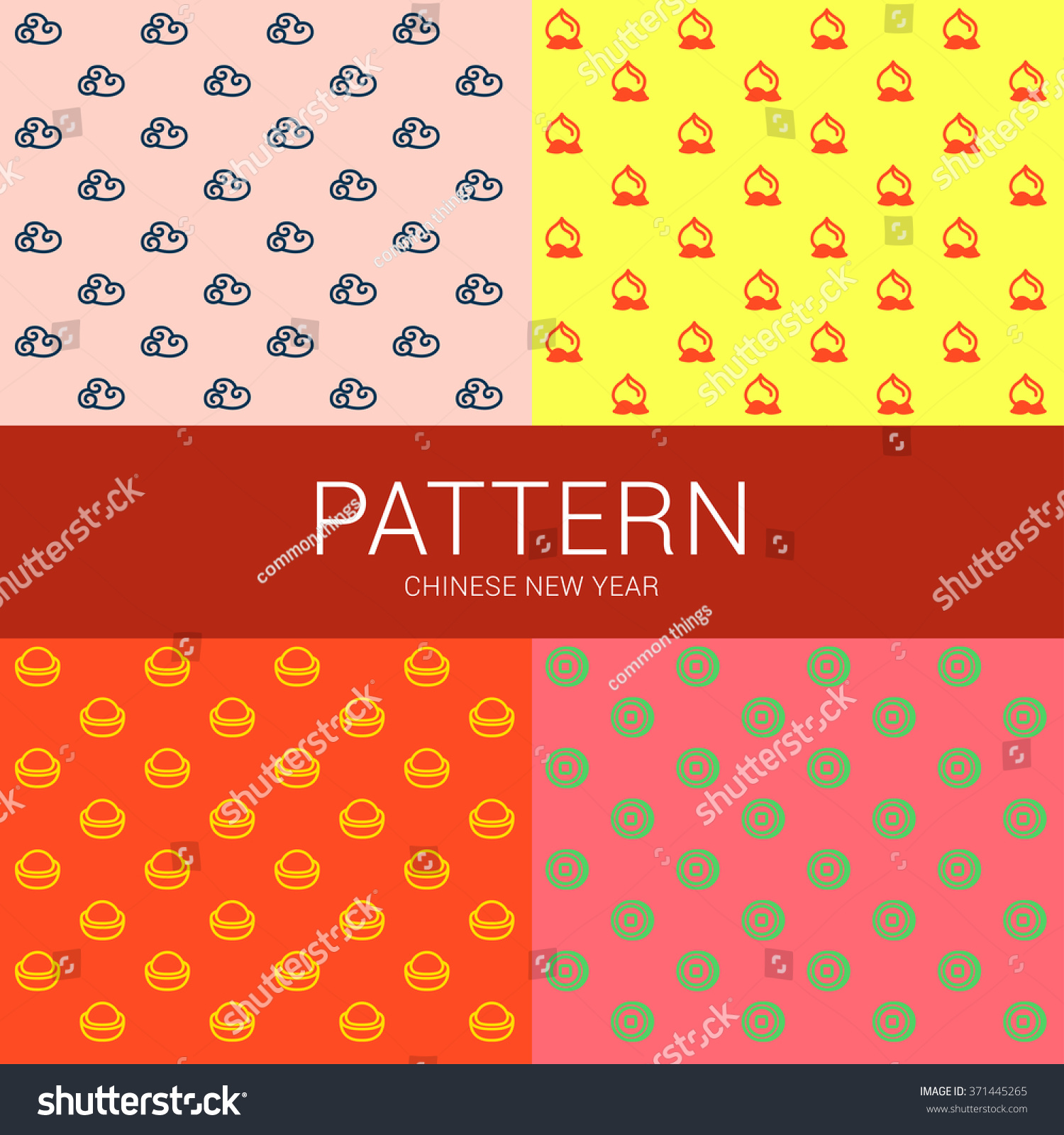 Pattern wealth 4 icons chinese greeting symbol stock vector pattern of wealth 4 icons of chinese greeting symbol are arranged as a pattern they buycottarizona Images