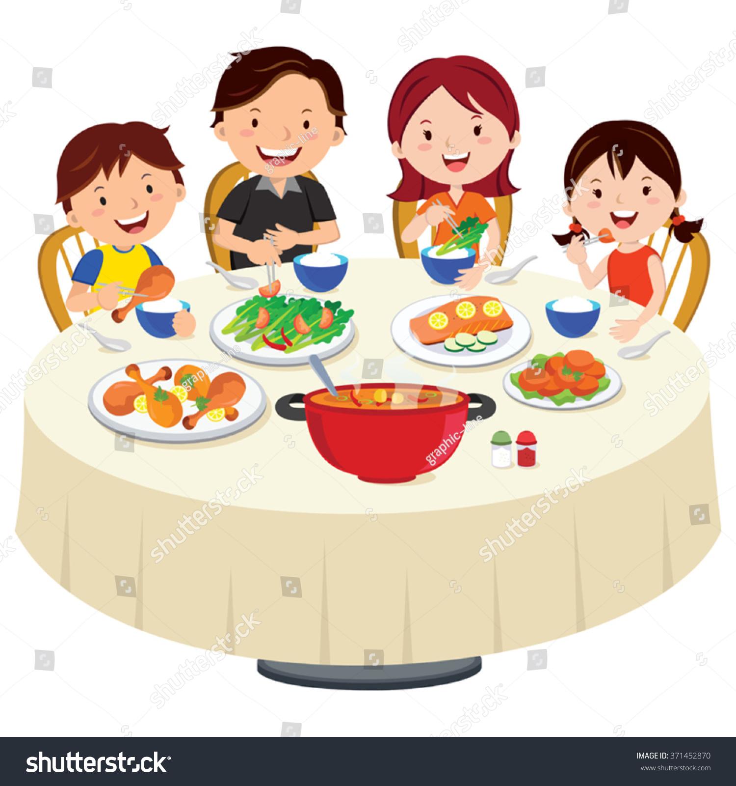 family eating dinner family dinner isolated stock vector 371452870 shutterstock Christian Fish Logo Christian Fish Logo