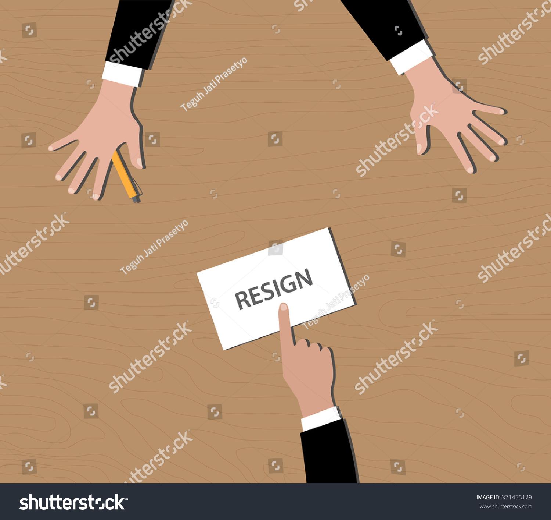resign resignation letter envelope give boss stock vector resign resignation letter in envelope give to boss on desk