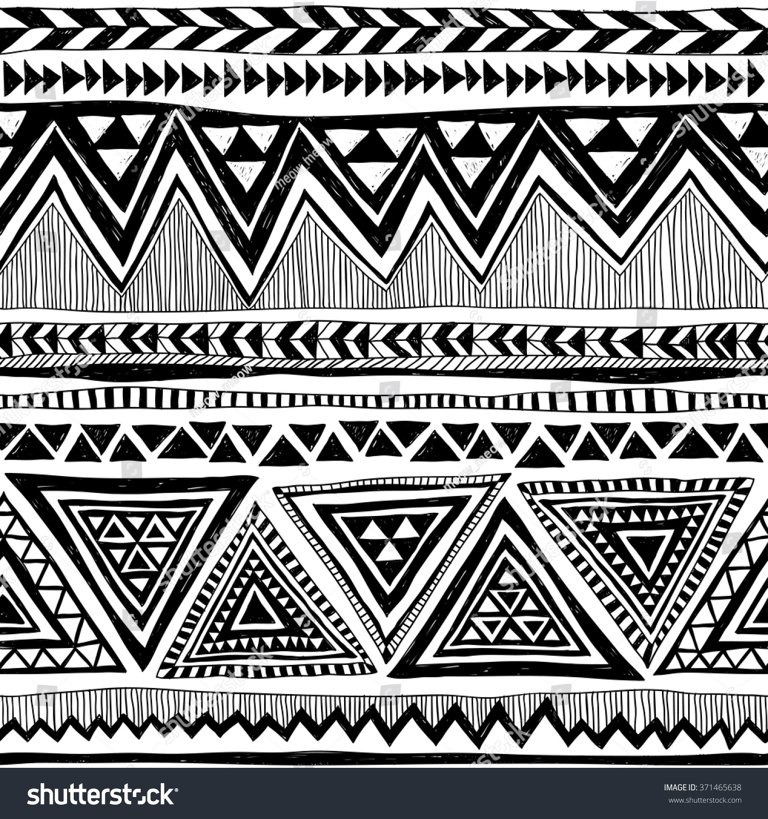 Navajo Pattern Black And White