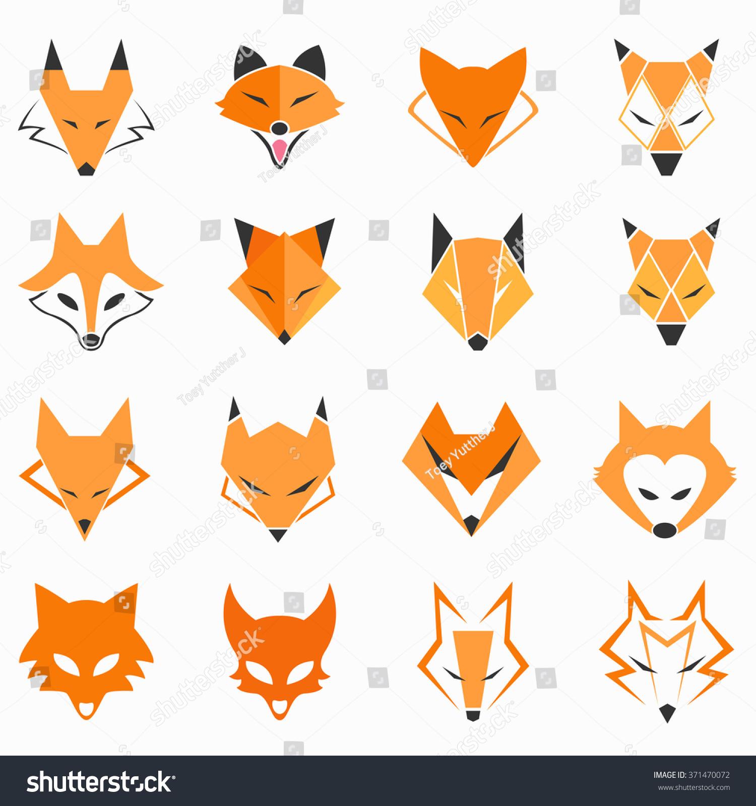 Fox Face Line Drawing : Fox face stock vector illustration shutterstock