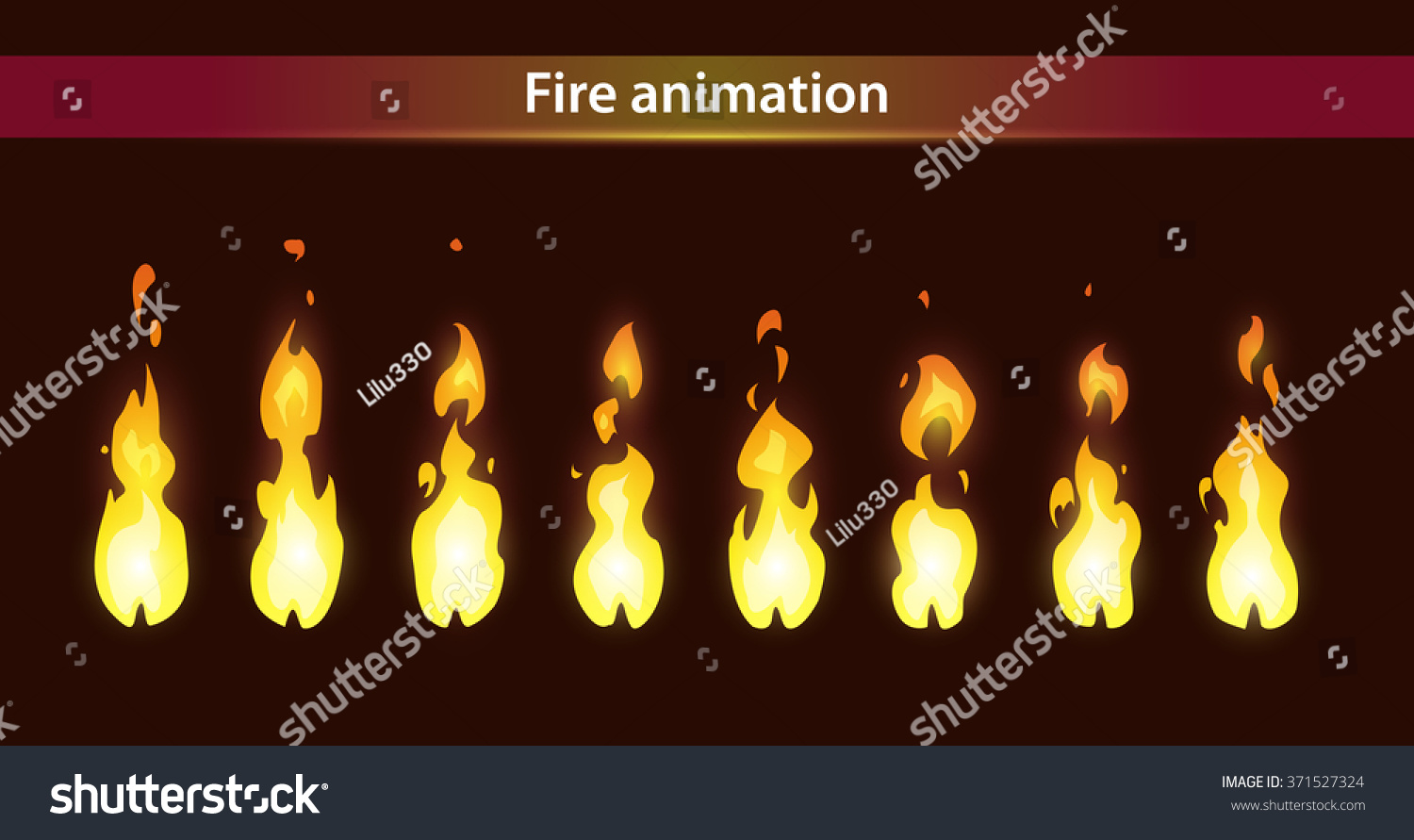 Fire Animation Sprites Vector Flame Video Stock Vector HD (Royalty ... for animated fire torch  103wja
