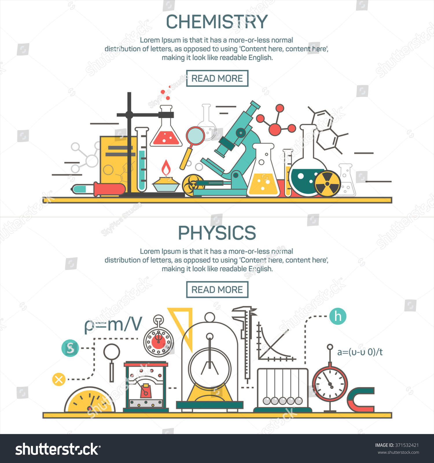 Science banner vector concepts line style stock vector 371532421 science banner vector concepts in line style chemistry and physics design elements symbols and biocorpaavc Choice Image