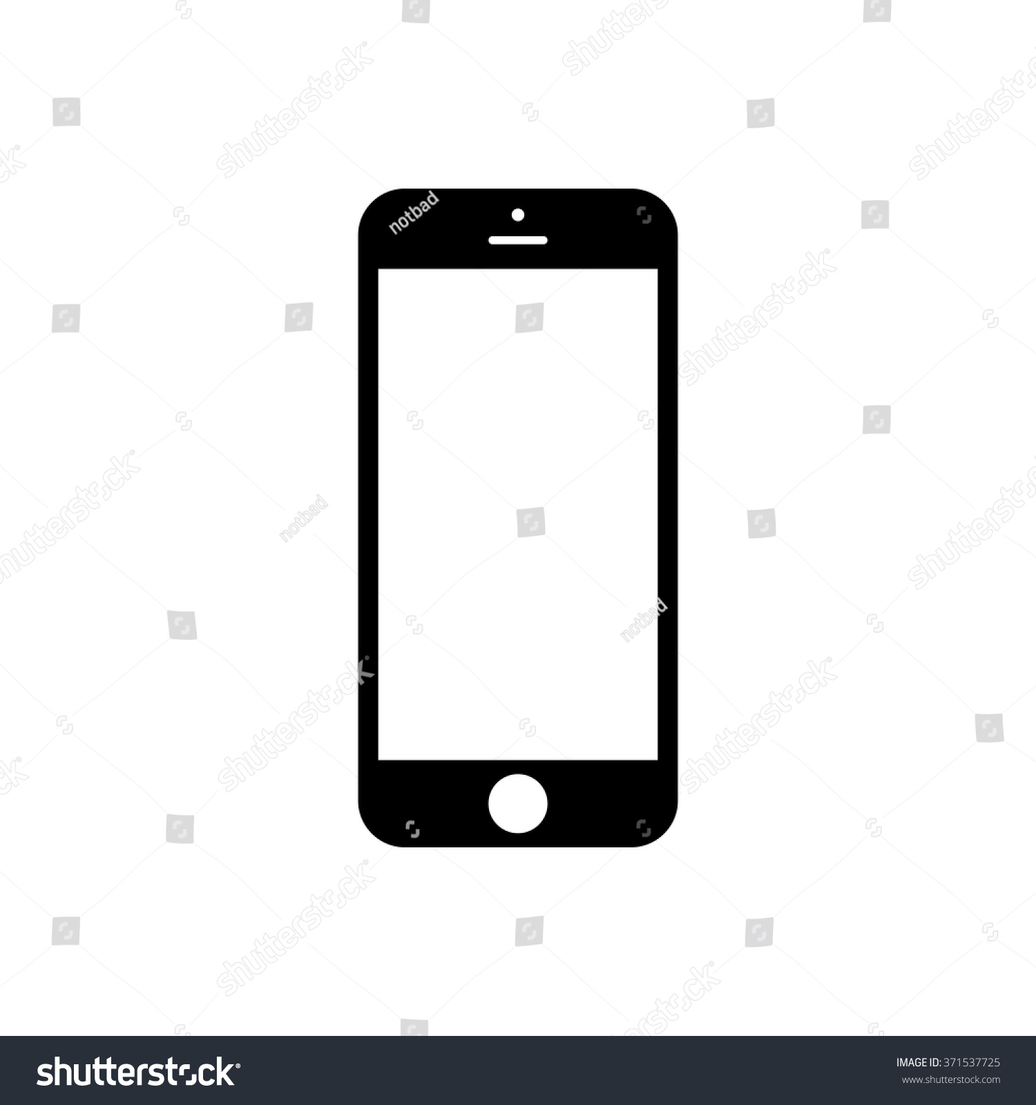 Smartphone icon iphone style cellphone pictogram stock vector smartphone icon in iphone style cellphone pictogram in trendy flat style isolated on white background biocorpaavc Image collections