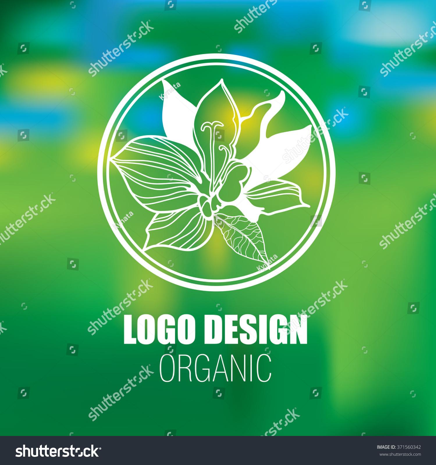 Vector Design Elements Organic Natural Logos Stock Vector