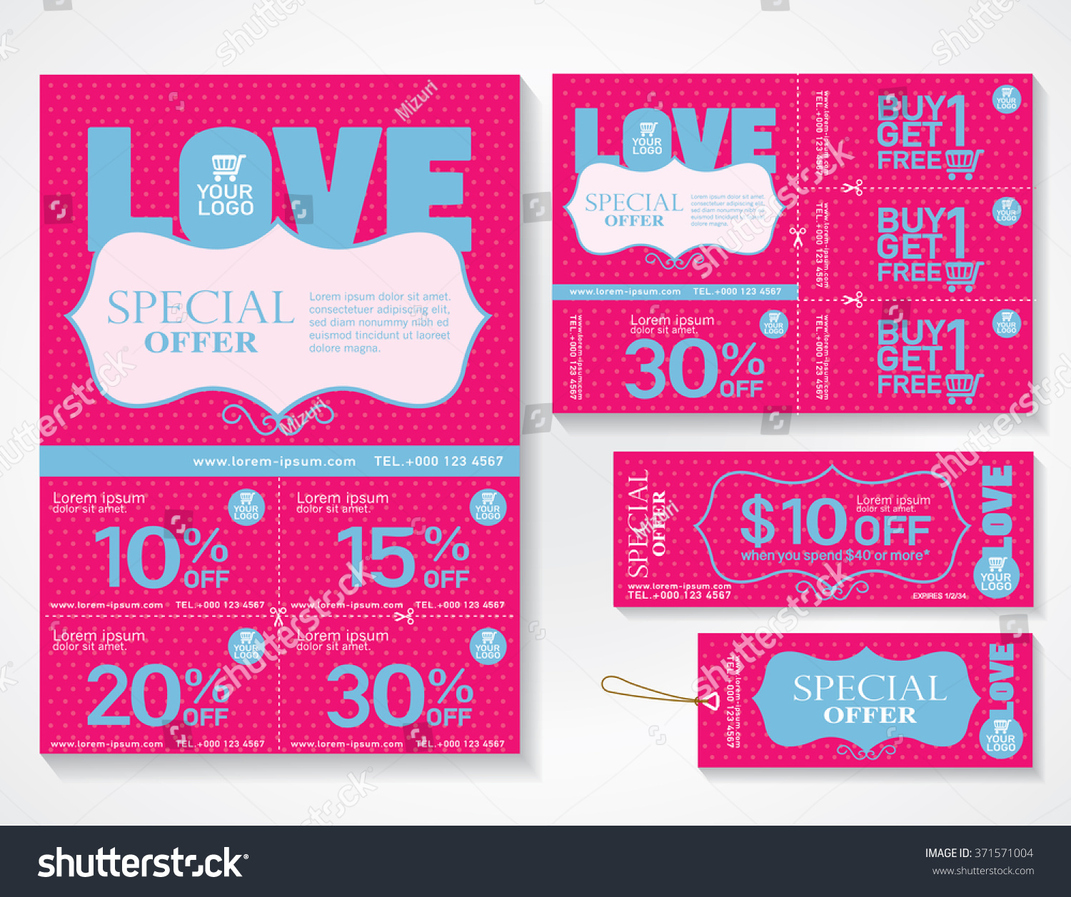 Sale Flyer Promotions Coupon Banner Design Vector 371571004 – Coupon Flyer