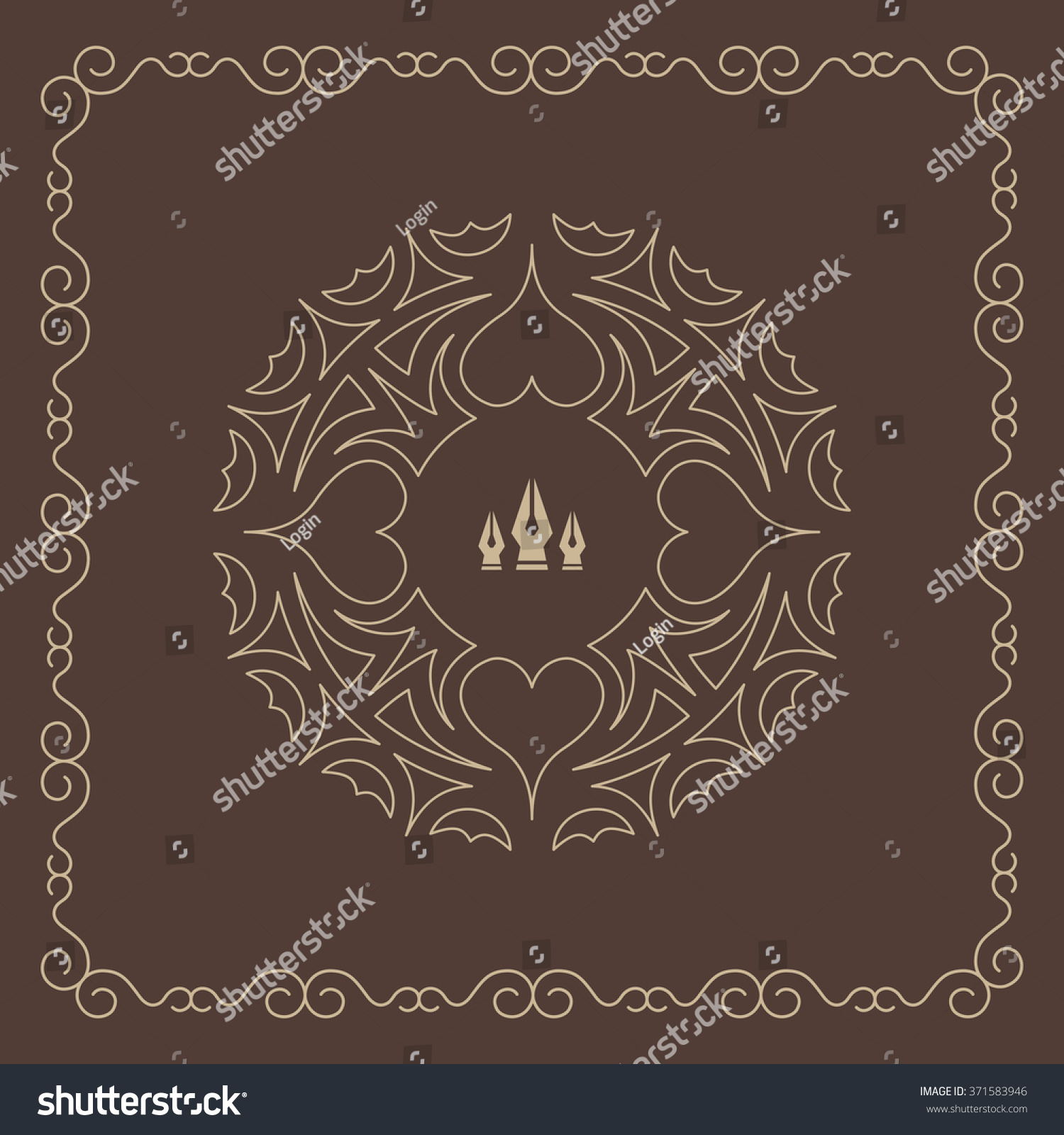 Ornament decoration ornate frame elegant element stock for A style text decoration
