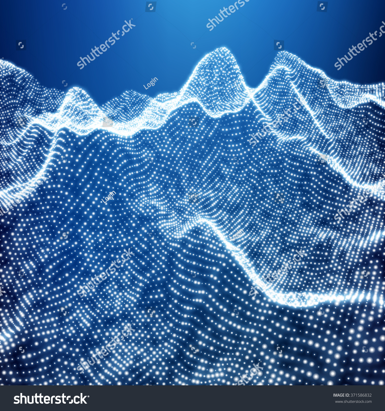 wireframe mountains low poly geometric 3d mountain landscape stock vector 9307