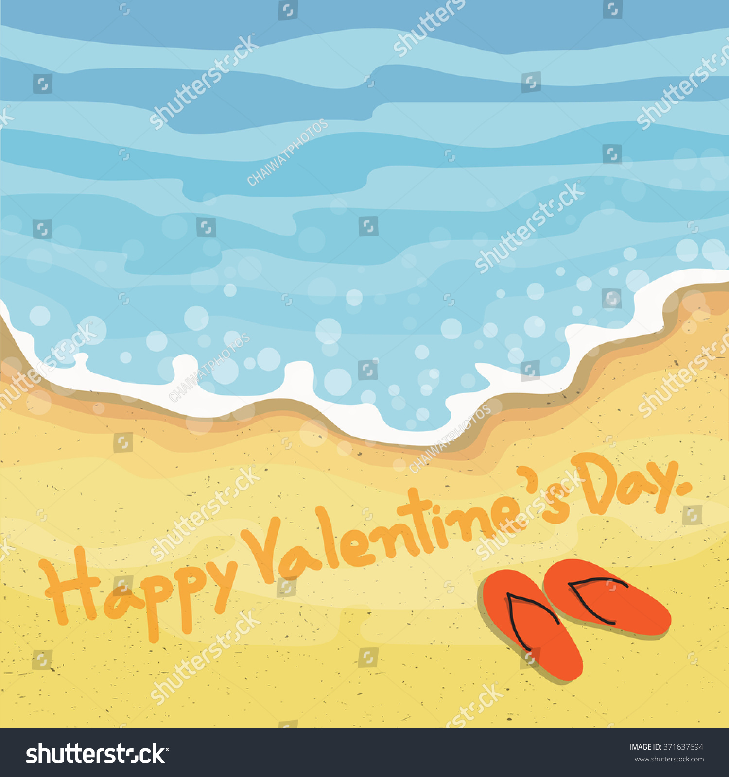 Happy Valentines Day Text Written By Stock Vector Royalty Free
