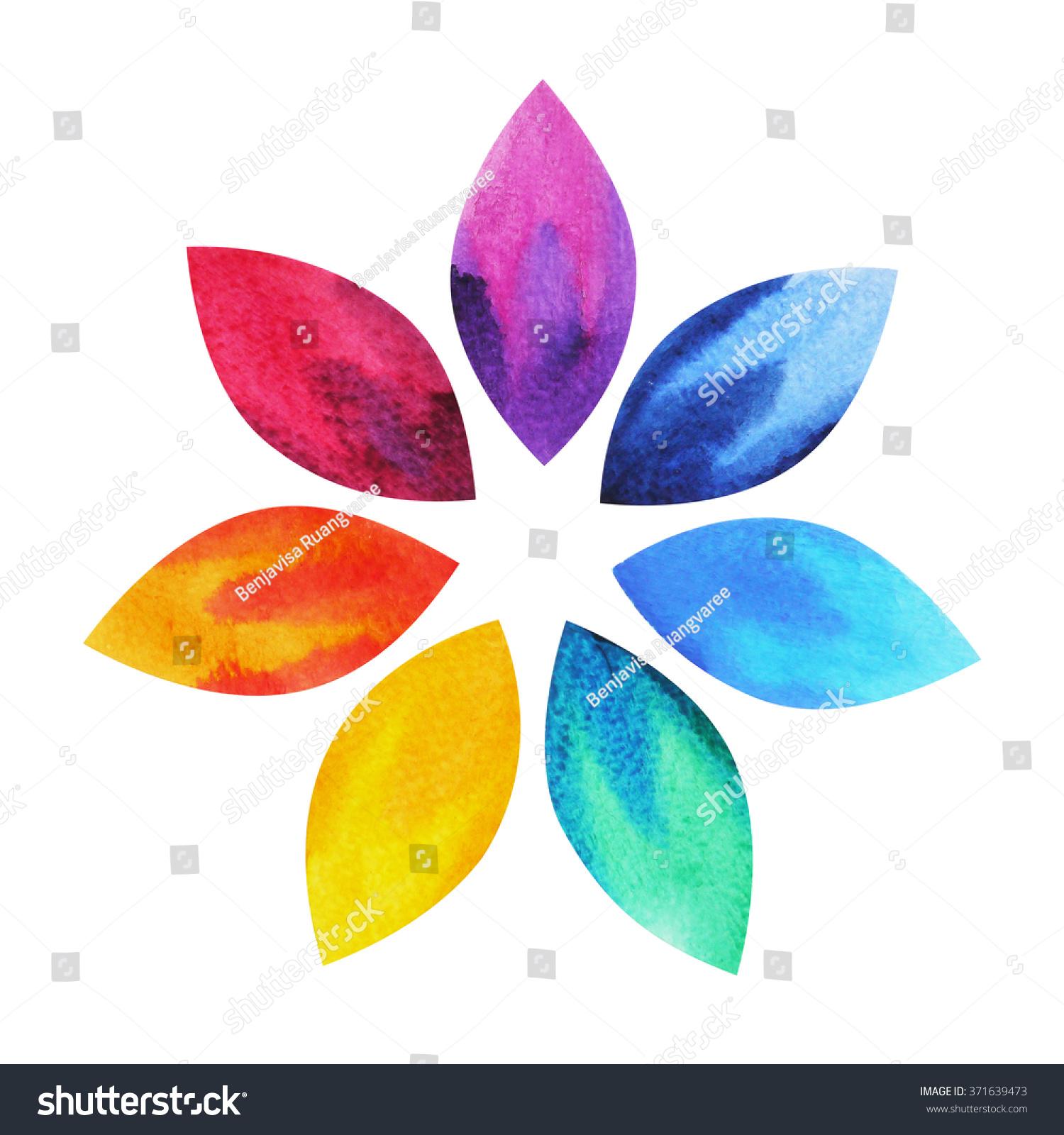 7 Color Chakra Sign Symbol Colorful Stock Illustration 371639473