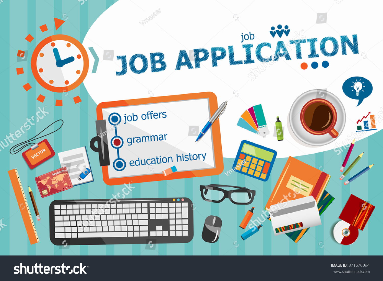 Poster design jobs online - Job Application Design Concept Typographic Poster Job Application Concepts For Web Banner And Printed