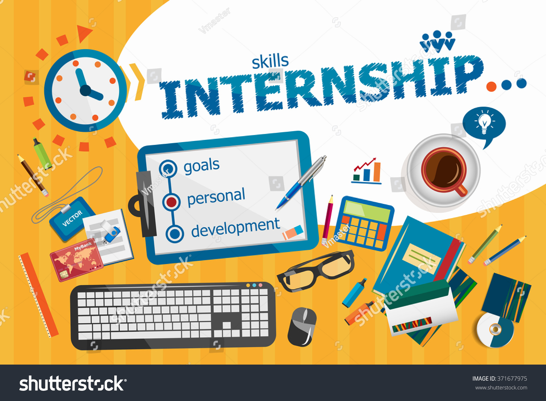 internship design concept typographic poster internship