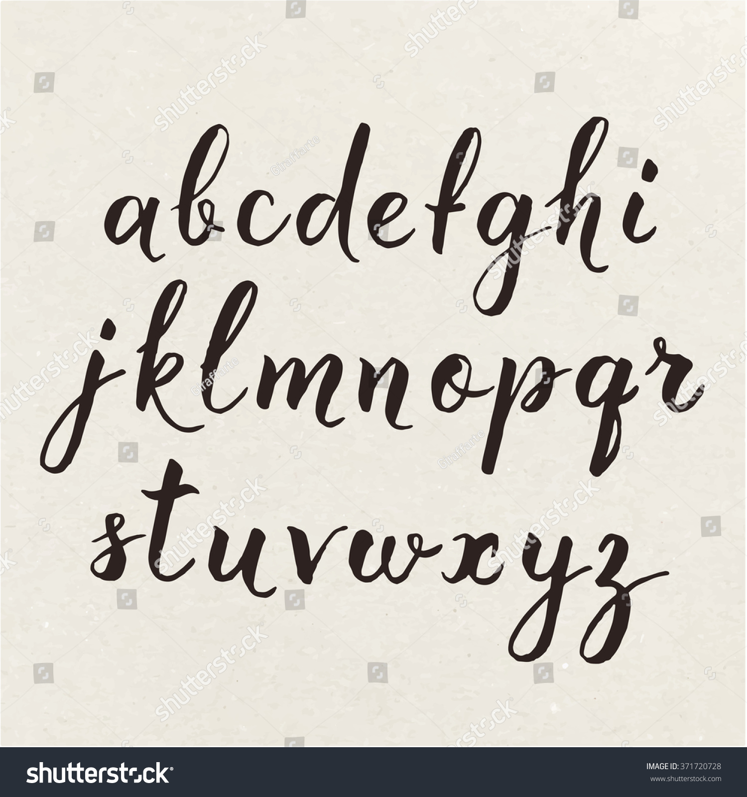 Hand written calligraphic alphabet cool calligraphic stock Cool caligraphy fonts