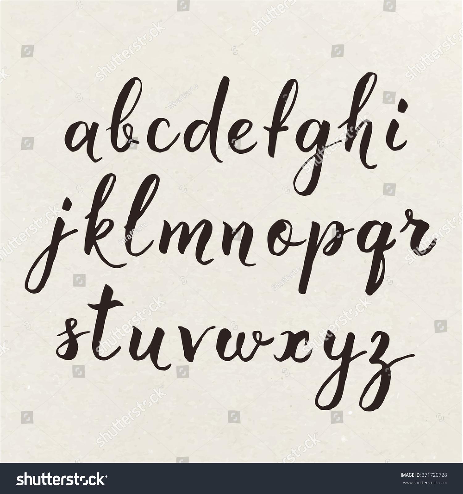 hand written calligraphic alphabet cool calligraphic stock