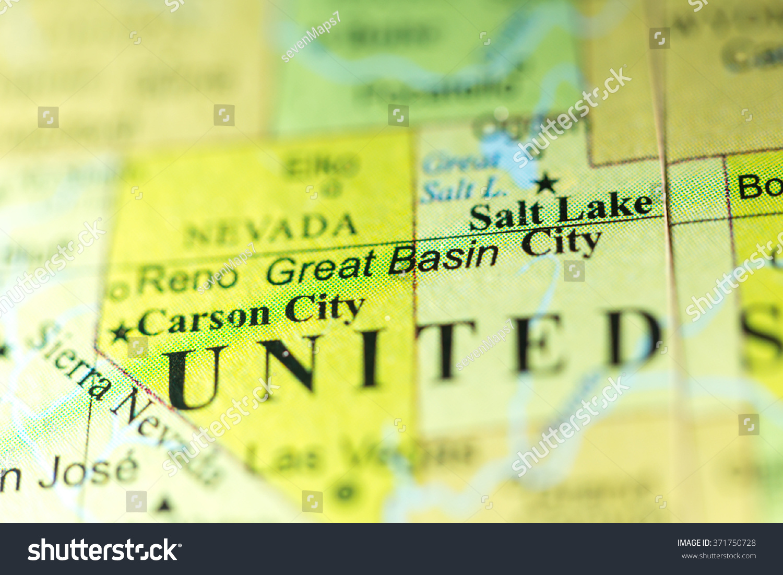 Closeup Great Basin Nevada On Political Stock Photo Edit Now