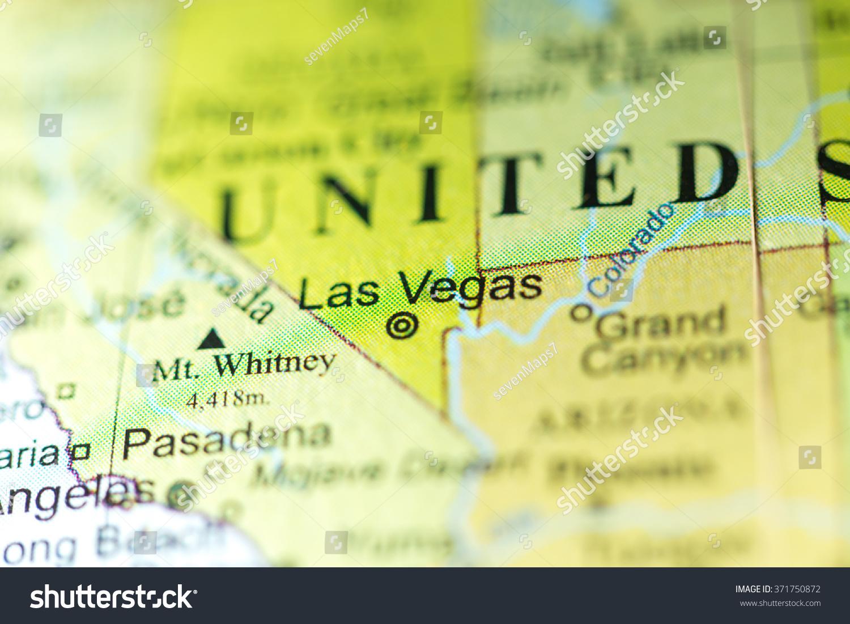 Closeup Las Vegas Nevada On Political Stock Photo - Las vegas nevada usa map