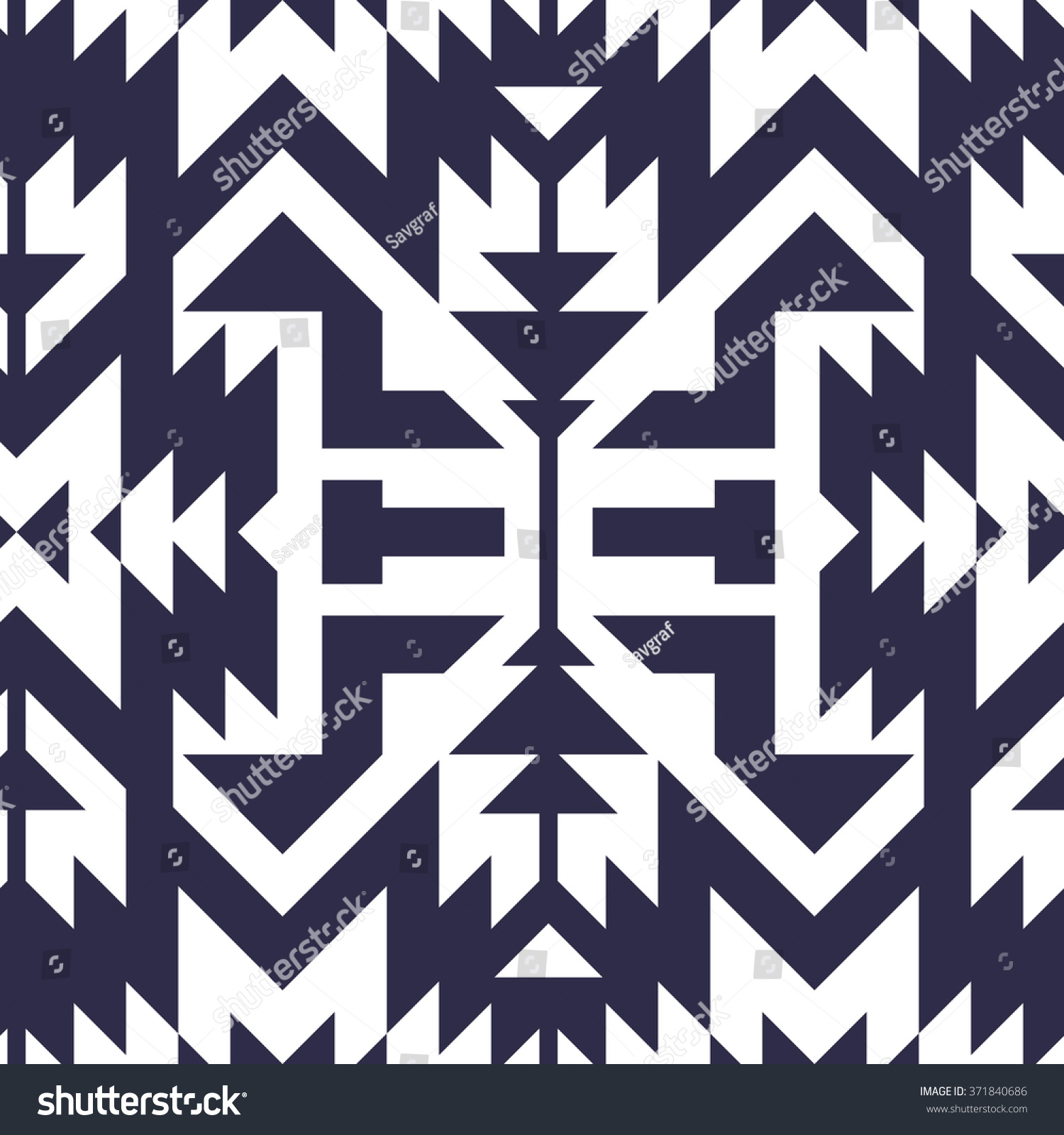 Seamless Vector Tribal Pattern Textile Design Stock Vector 371840686 Shutterstock