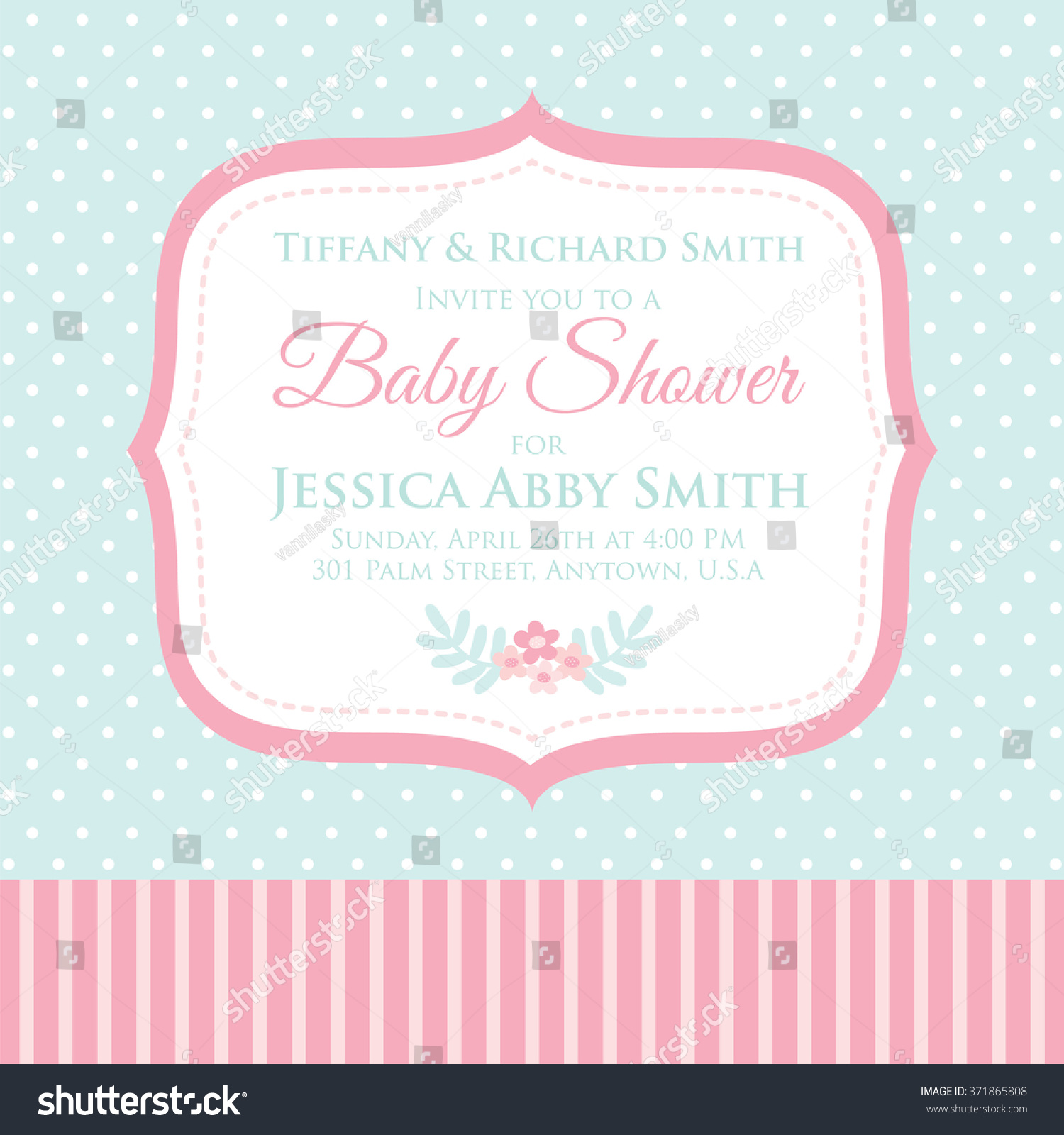 Cute Baby Shower Invitation Stock Photo (Photo, Vector, Illustration ...