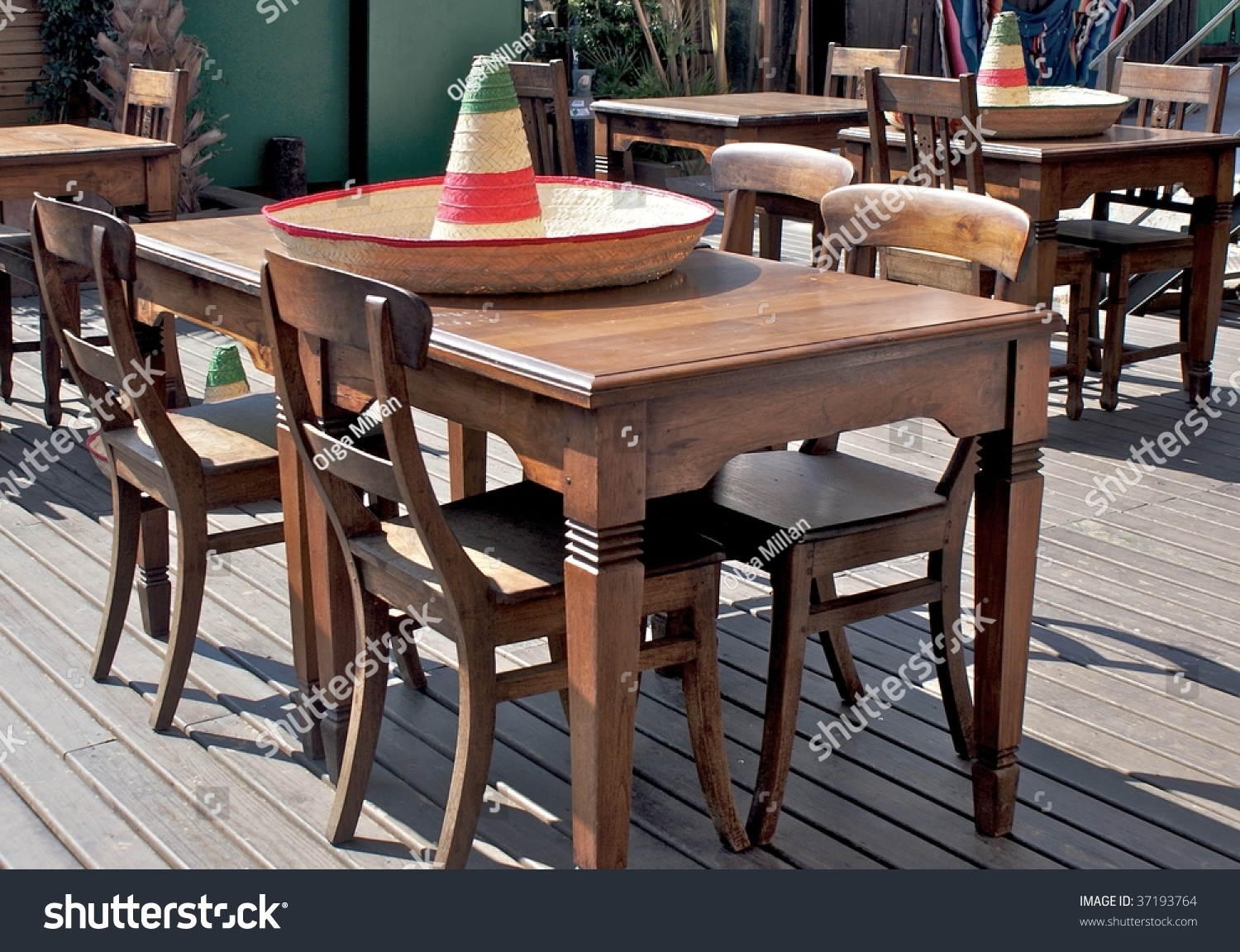 Mexican Outdoor Bar Over Table Mexican Stock Photo Edit Now 37193764