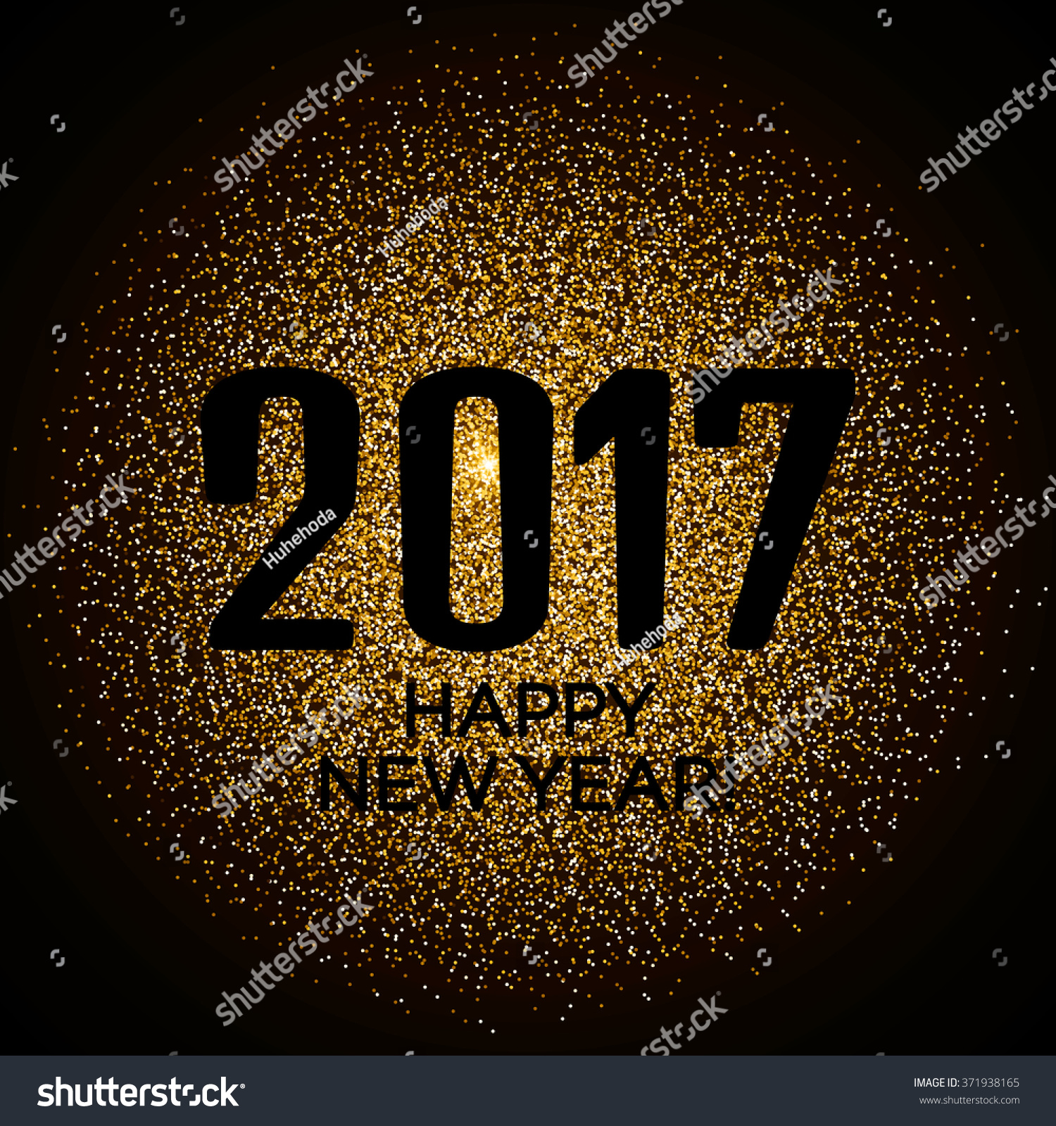 happy new year 2017 gold glitter new year background for banner flyer poster sign