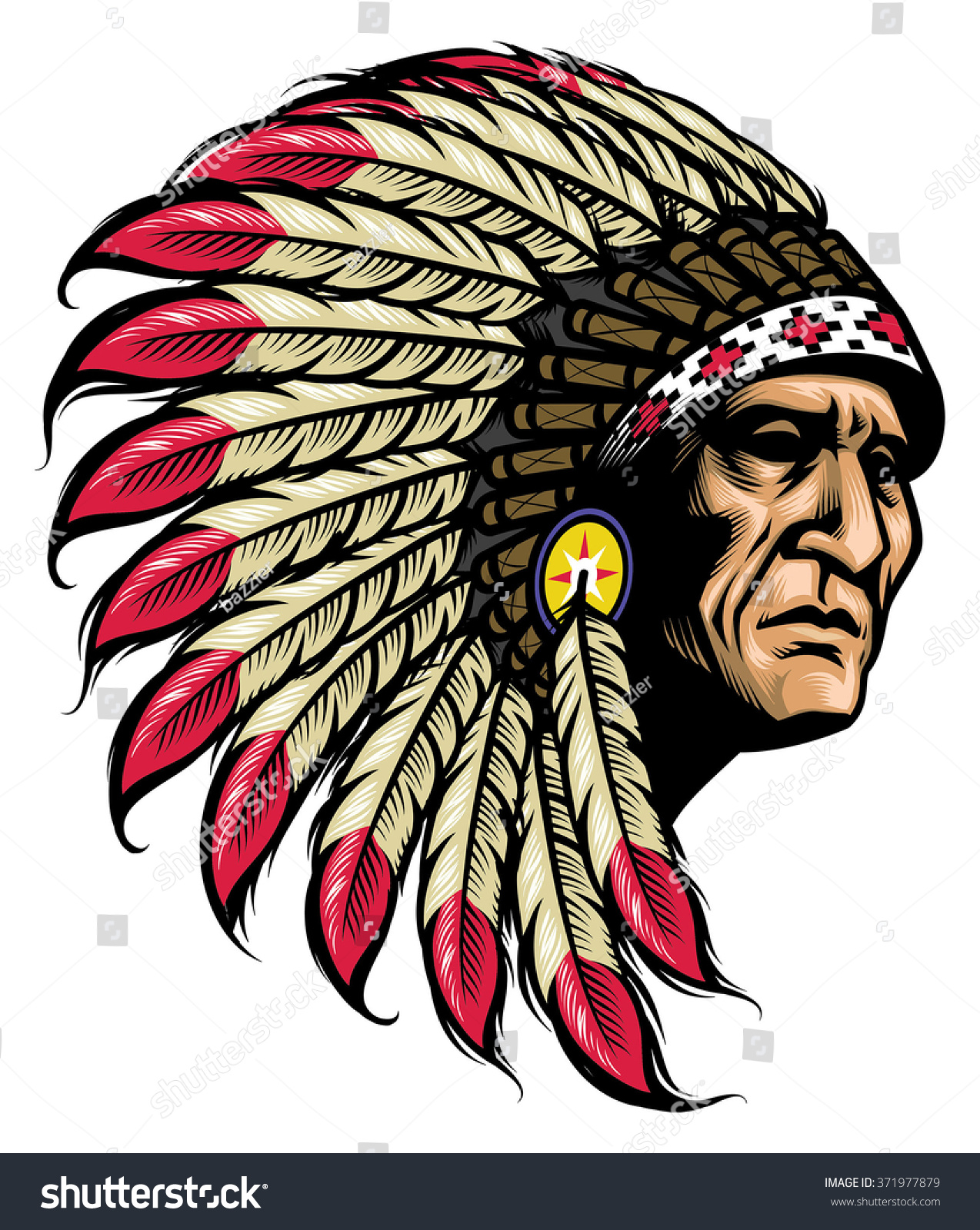 american native chief stock vector 371977879 shutterstock