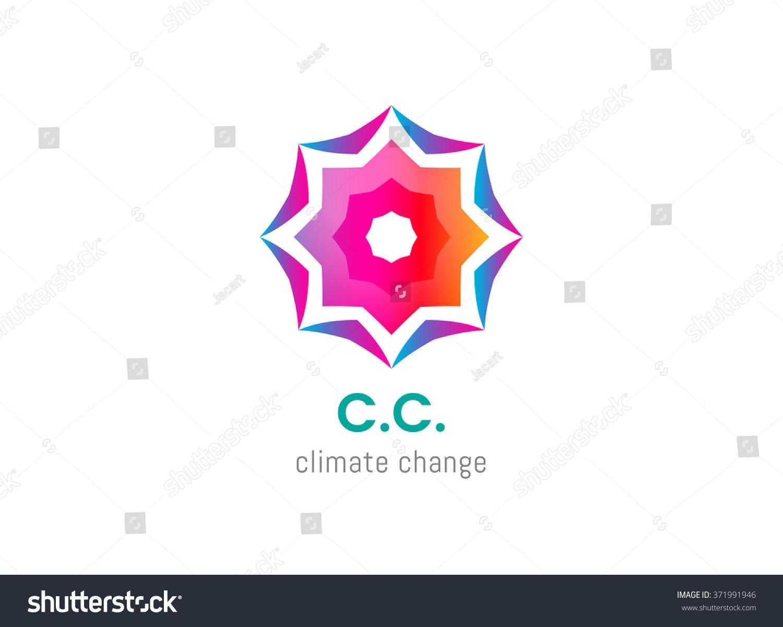 Abstract Symbol Climate Change Logo Environmental Stock Vector