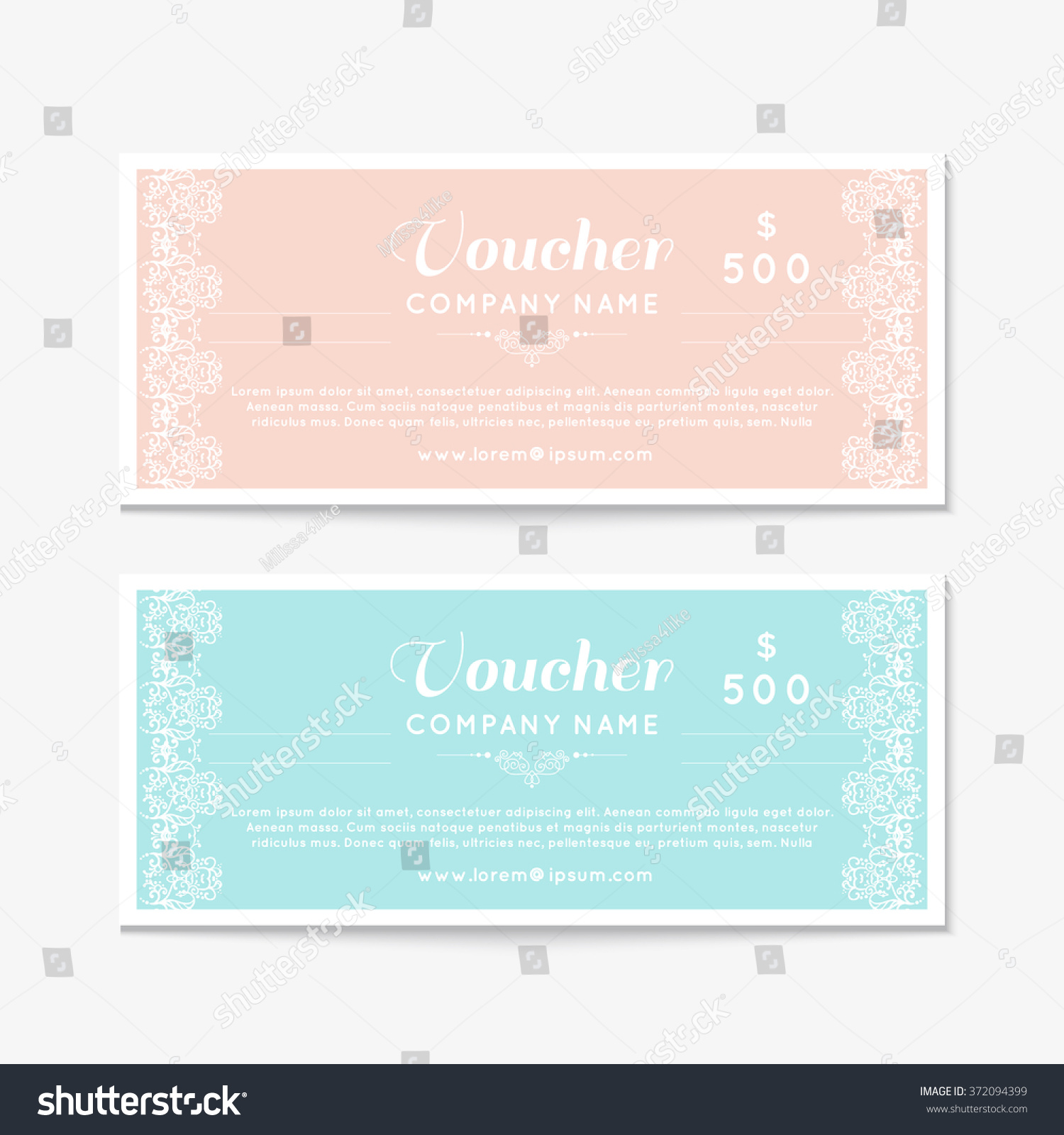 Voucher Template With Floral Pattern microsoft word invitation – Gift Certificate Voucher Template