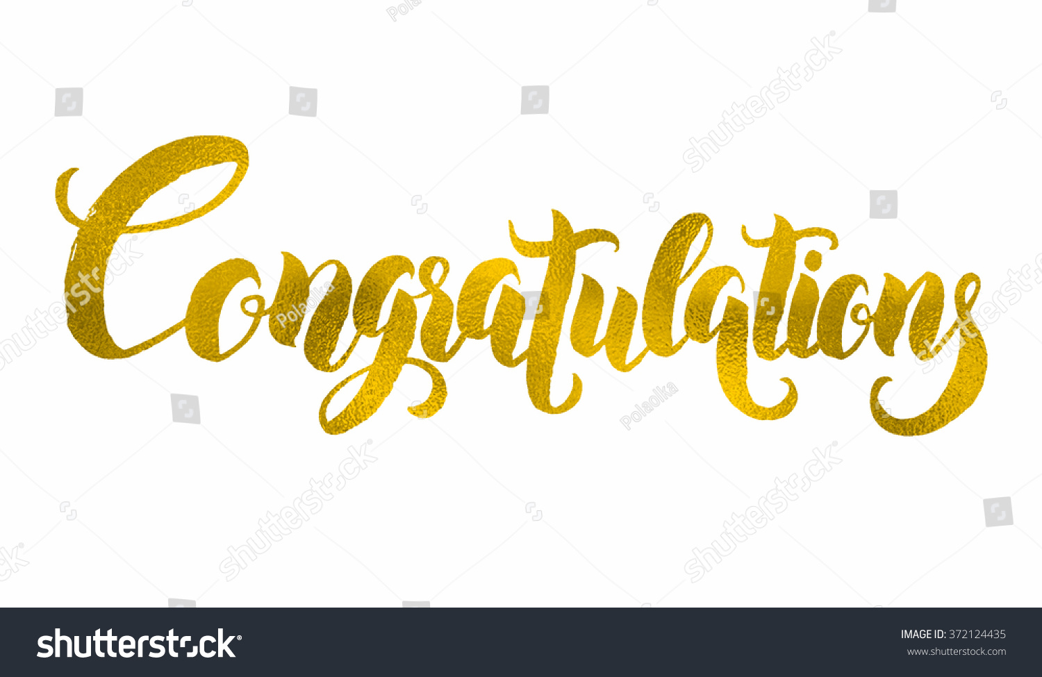 Congratulations hand lettering modern brush calligraphy