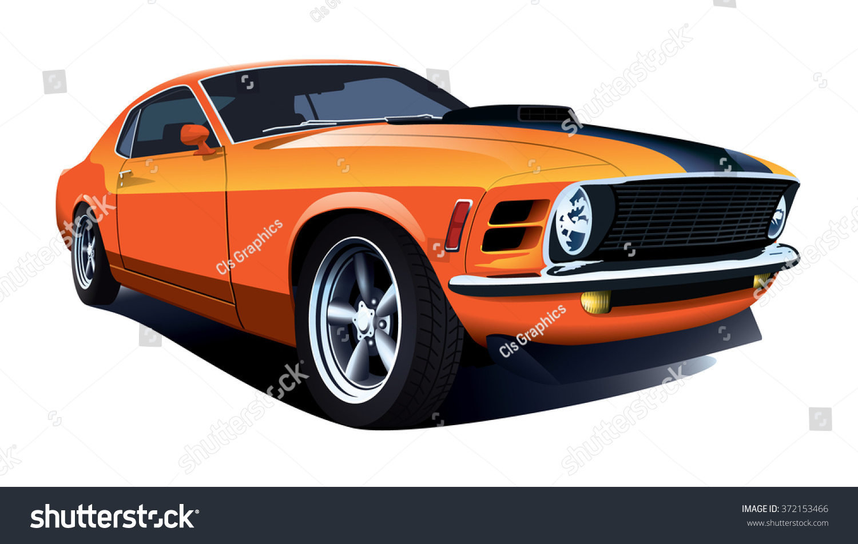 American Customized Muscle Car Vector Stock Vector